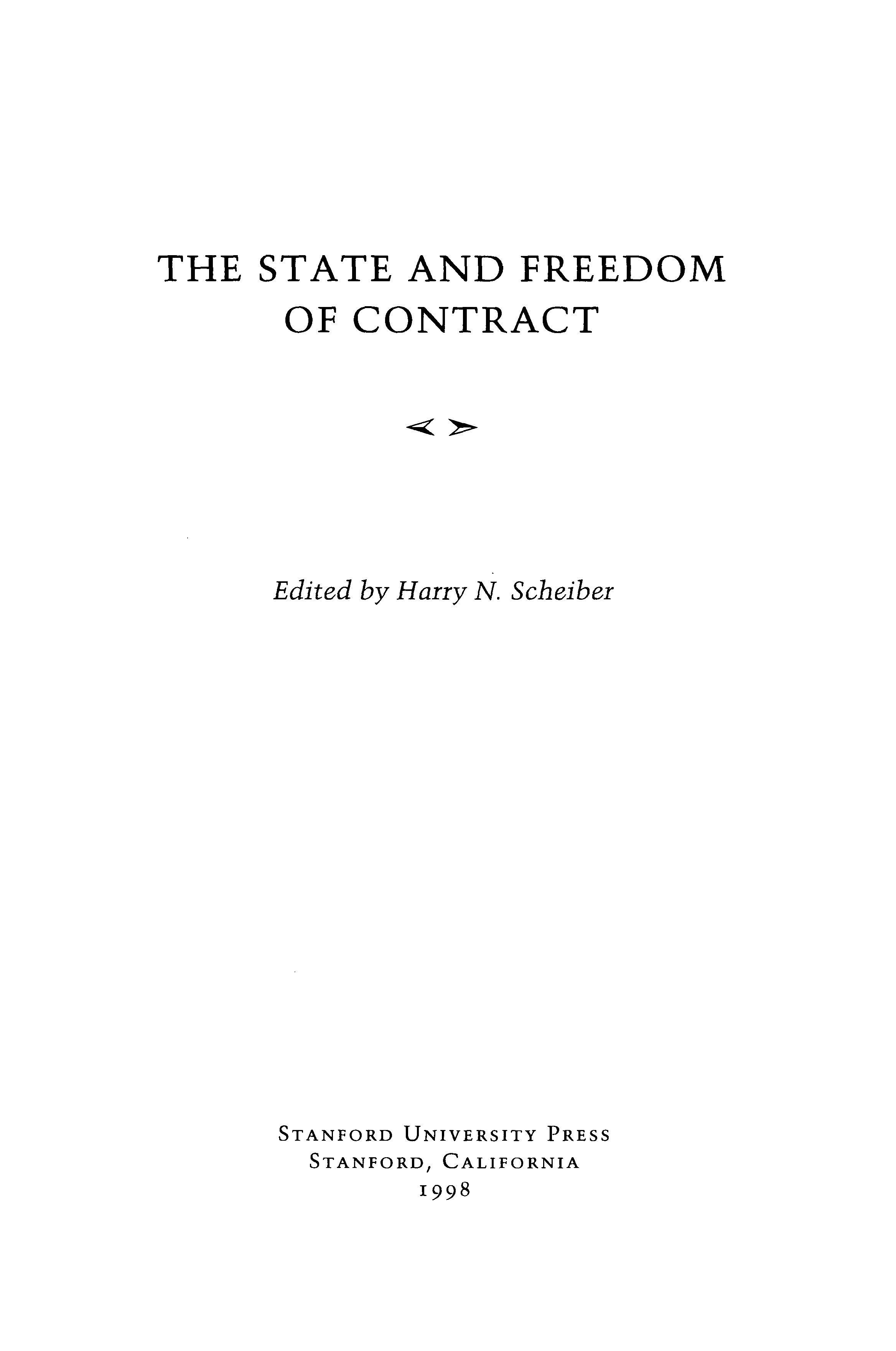 The state and freedom of contract