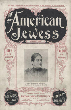 cover of <em>The American Jewess</em>