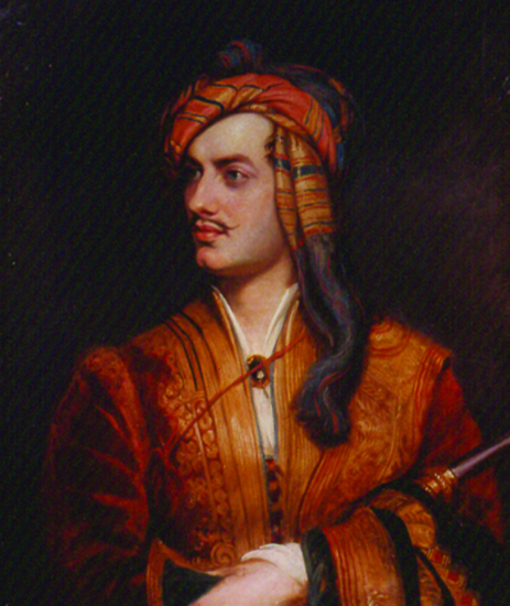 Figure 2. Thomas Phillips, George Gordon, 6th Lord Byron (1788–­1824) in Albanian Dress, 1834, after an original portrait of 1814. Oil on canvas. National Portrait Gallery, London