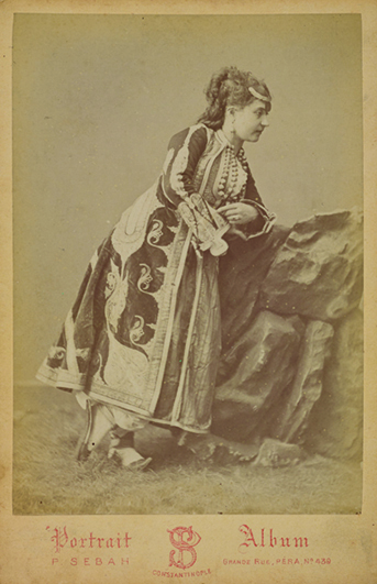 "Figure 16. Left: ""Muslim woman from Presen."" Pierre de Gigord Collection of Photographs of the Ottoman Empire and Republic of Turkey, Getty Research Institute, 96.R.14."