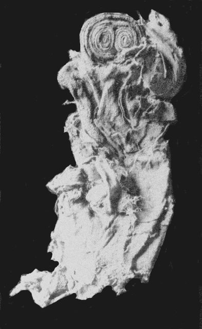 Fig. 10. Textile doll, from child's grave at Saqqara. : Quibell 1907, pl. XXXVIII, no. 4