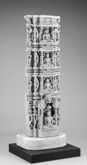 Indian (Rajasthan or Gujarat).  Jain column, 12th-13th century.  Marble, 78.3 cm .  Museum purchase made possible by the Margaret Watson Parker Art Collection Fund, 2004/1.151