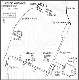 architectural reconstruction drawings of pisidian antioch