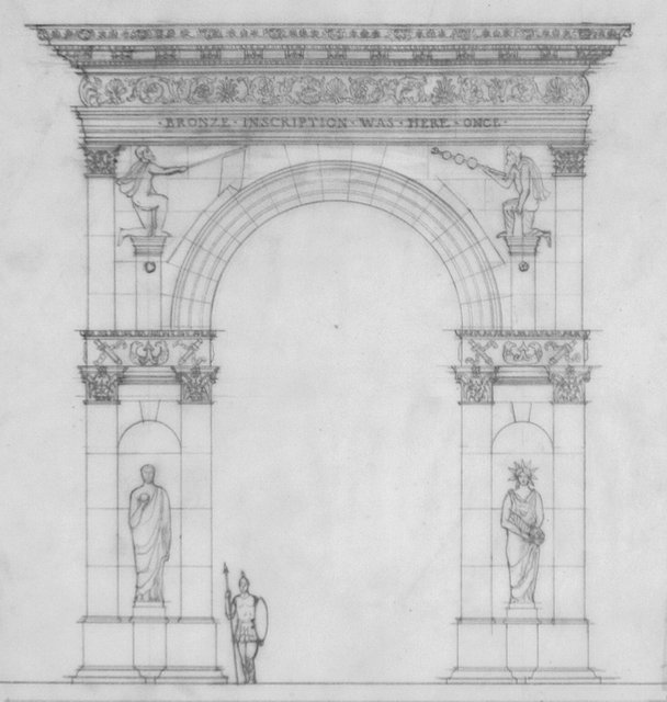 Frederick J Woodbridge Preliminary Reconstruction Of The City Gate As