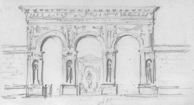 Frederick J Woodbridge Sketch Of The Elevation City