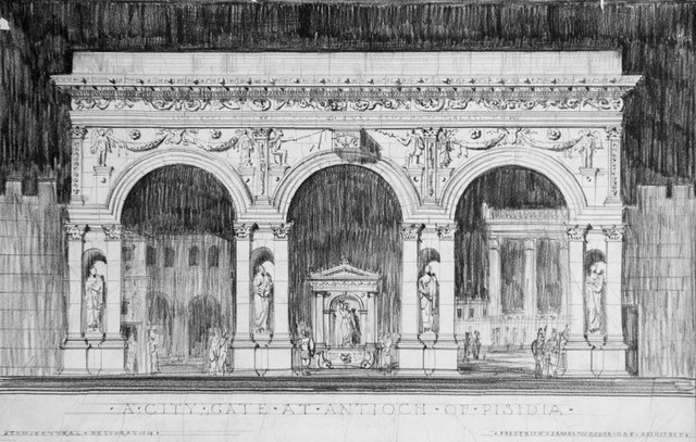 Roman Architecture Drawing architectural reconstruction drawings of pisidian antioch
