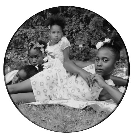 Carrie Mae Weems, American, born 1953.  After Manet, from May Days Long Forgotten, 2002.  C-print.  Museum purchase made possible by the W. Hawkins Ferry Fund, 2004/2.3