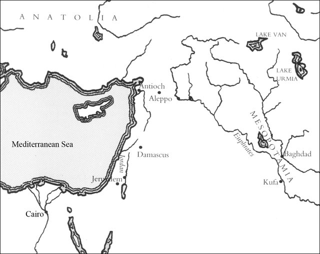 Fig. 11. Map of the Near East. : After Hillenbrand 1999, 6.