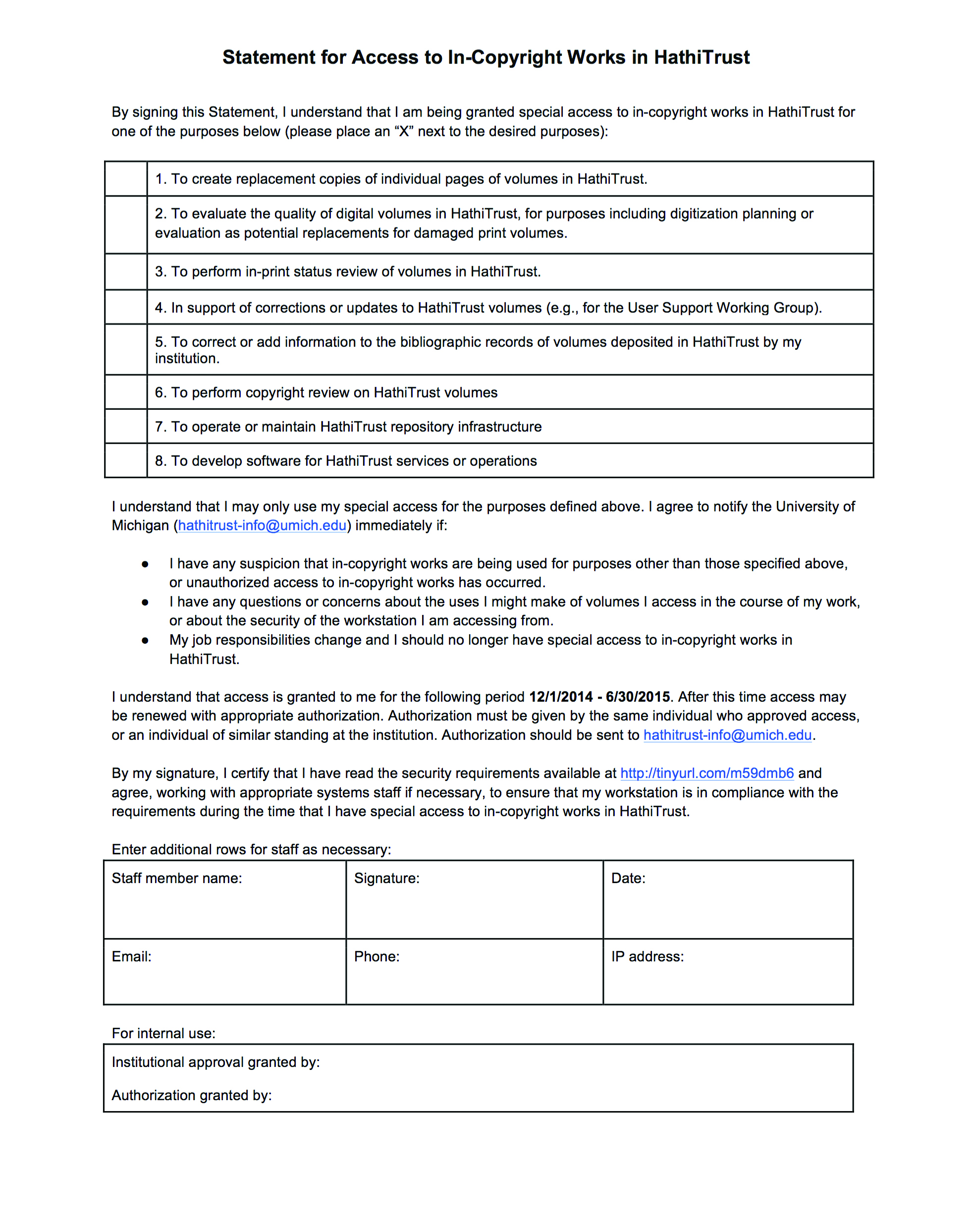Figure 13 Statement for Access form
