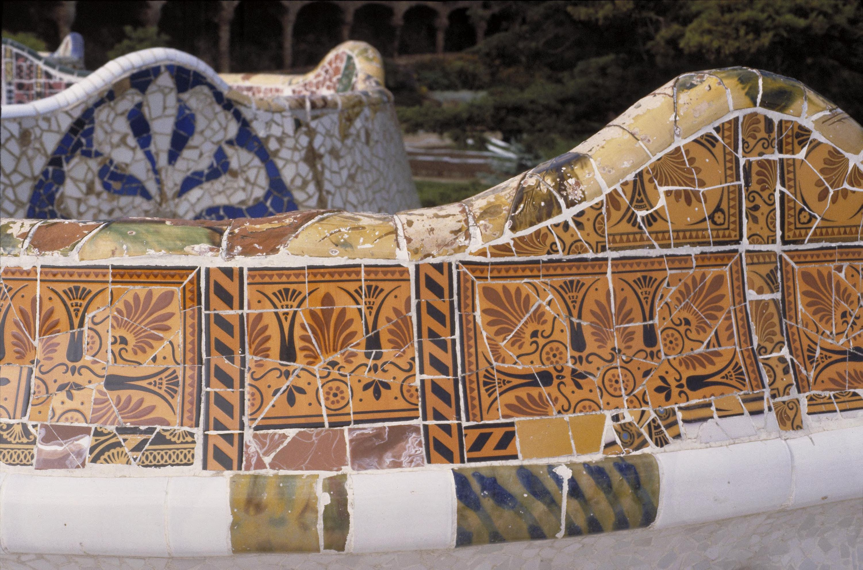Art Images for College Teaching: Park Guell, Barcelona: serpentine