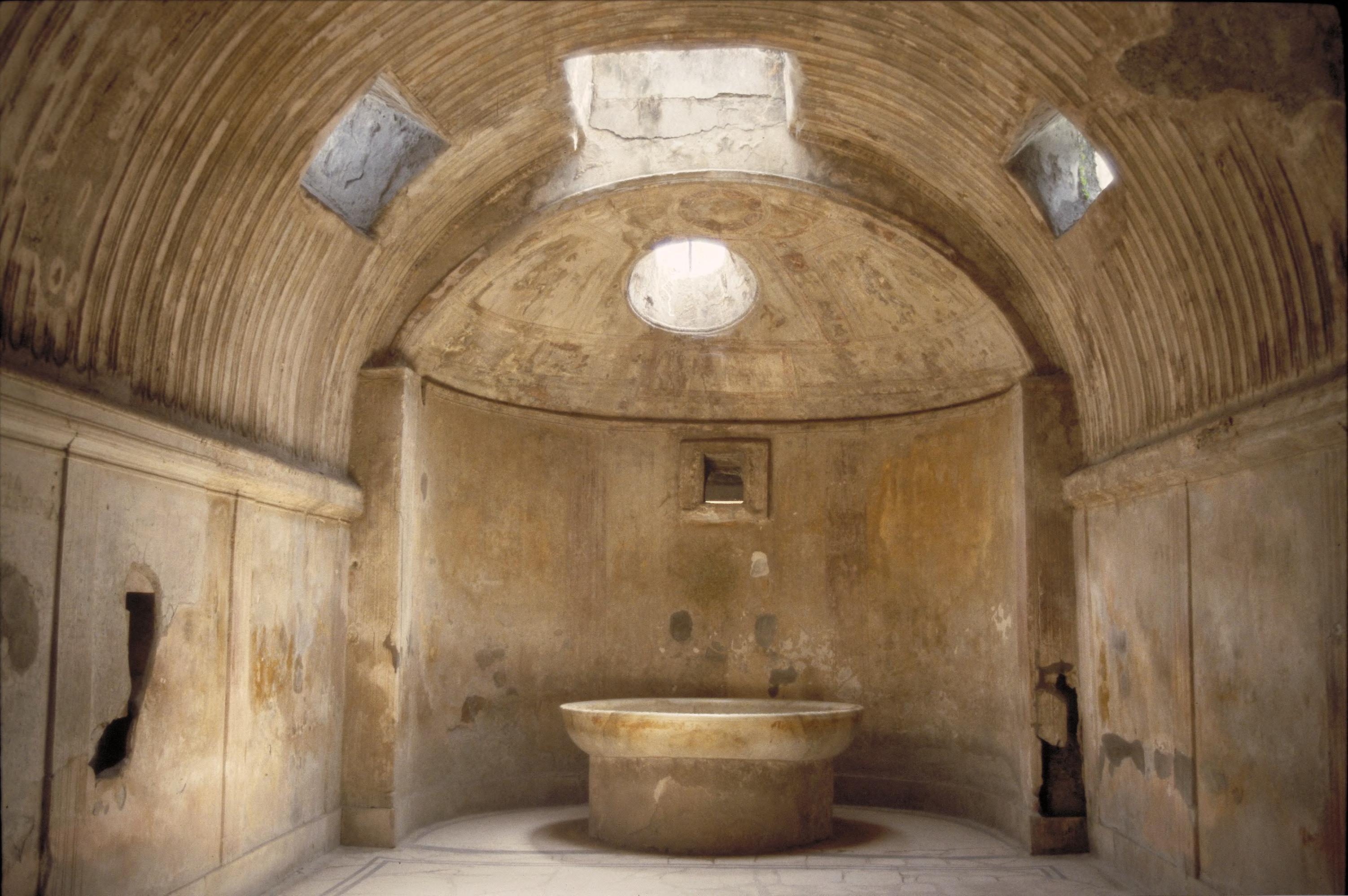 Art Images for College Teaching: Forum Baths, Pompeii: interior of ...