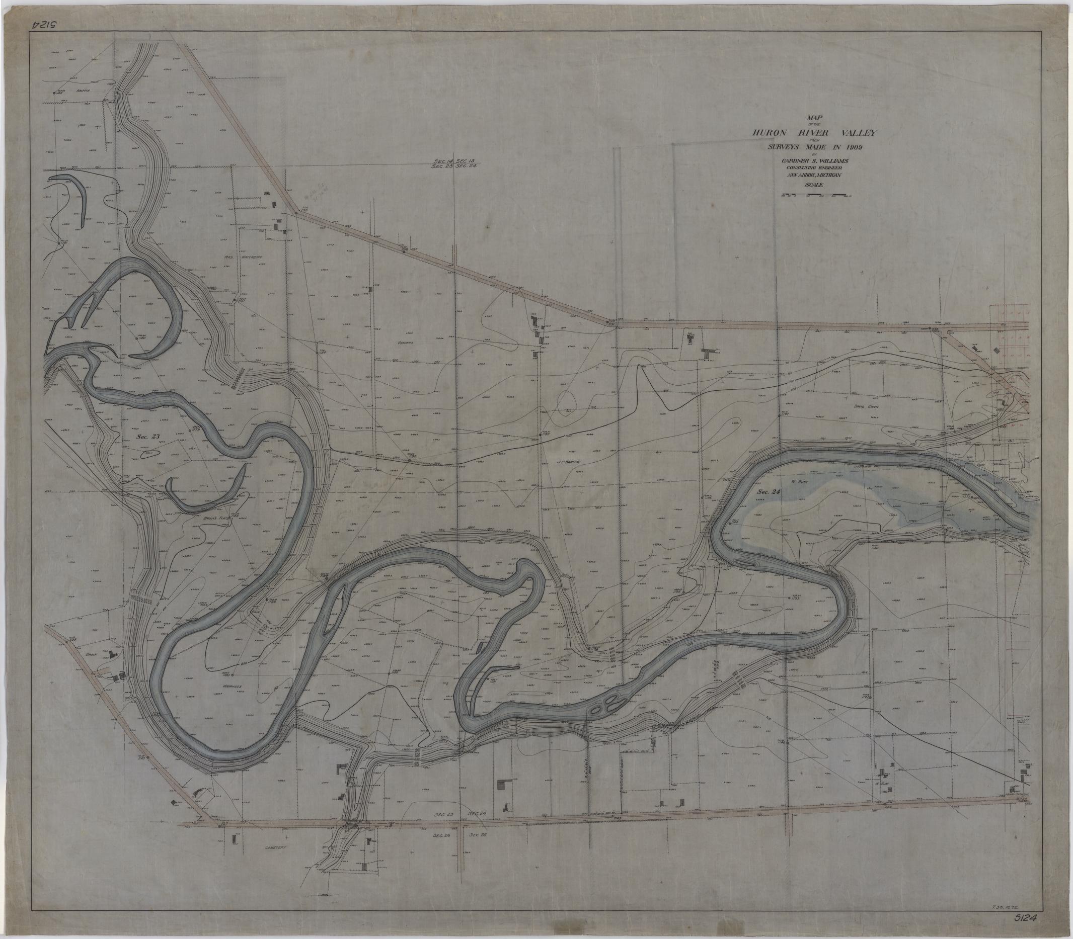 Bentley Image Bank, Bentley Historical Library: Map of the Huron