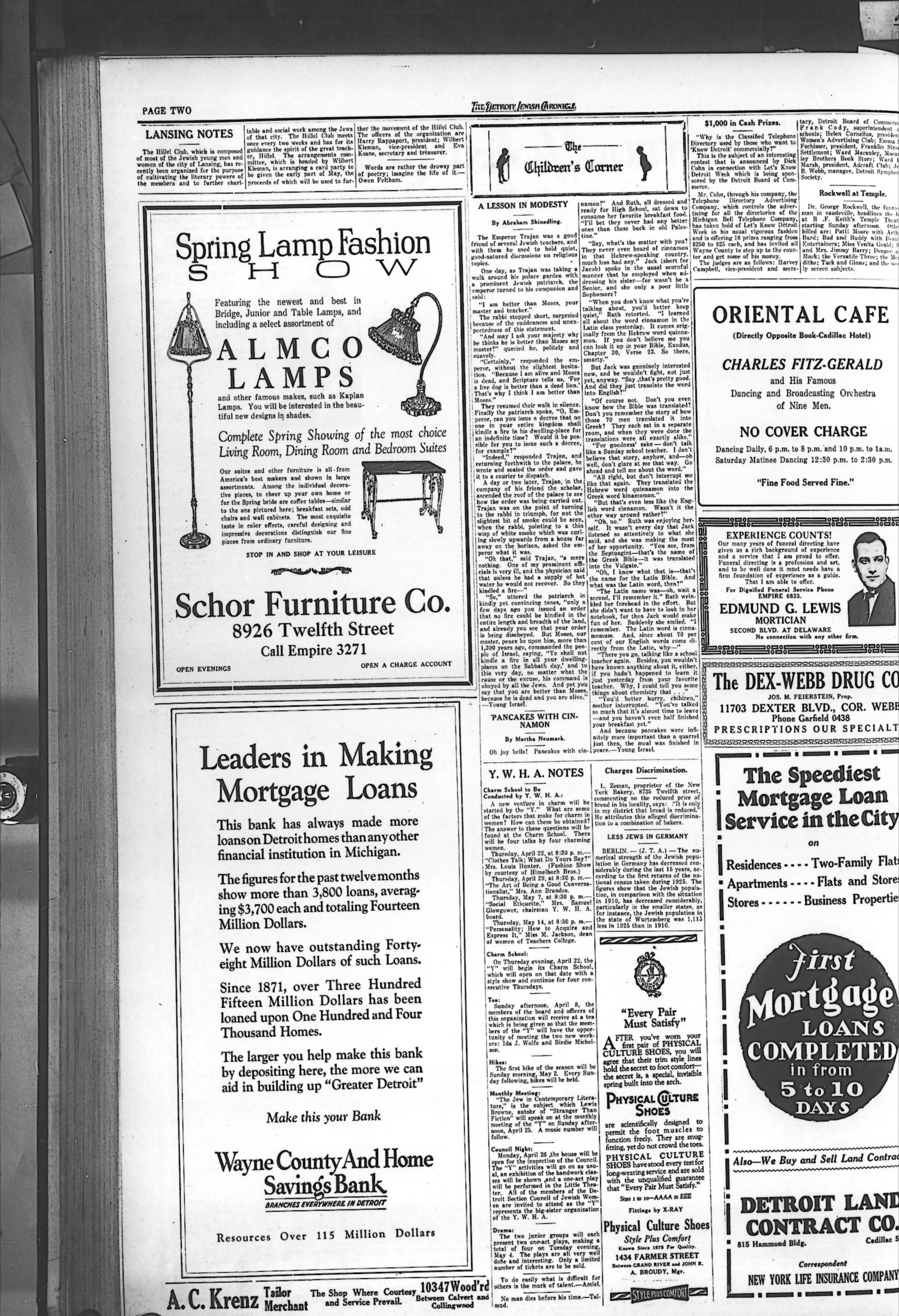 The Detroit Jewish News Digital Archives - April 16, 1926