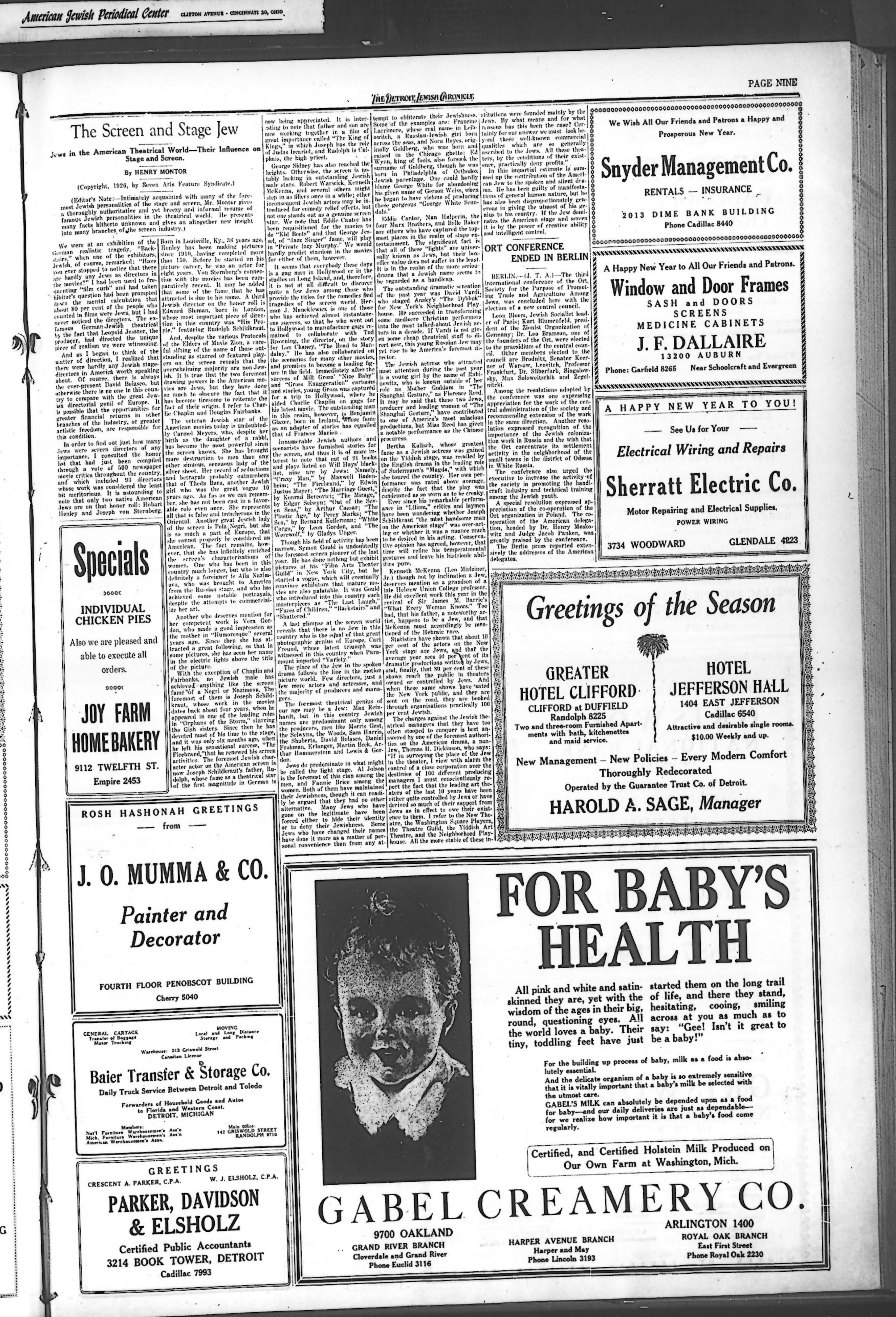 The Detroit Jewish News Digital Archives - September 09
