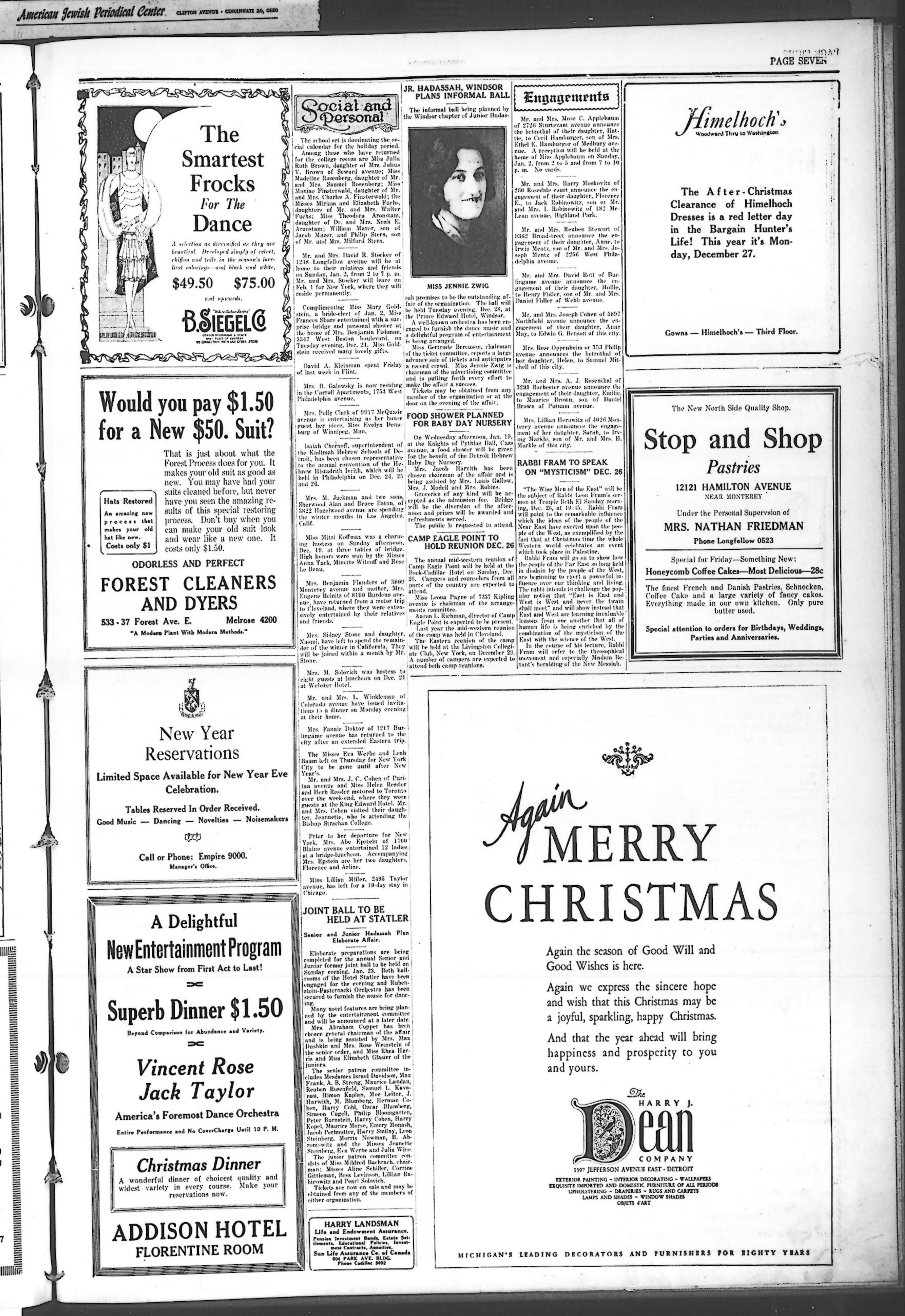 The Detroit Jewish News Digital Archives - December 24, 1926