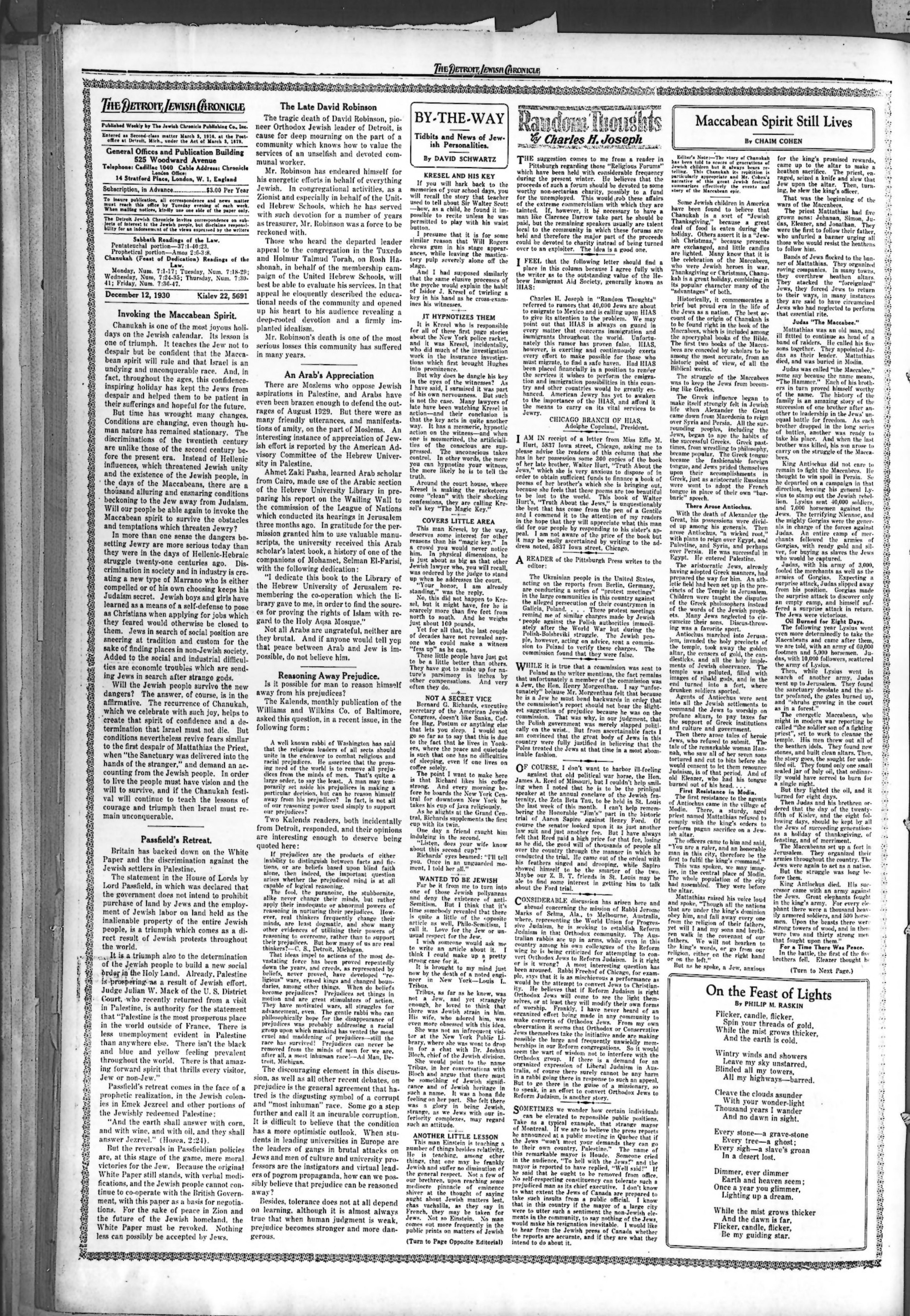 The Detroit Jewish News Digital Archives December 12 1930
