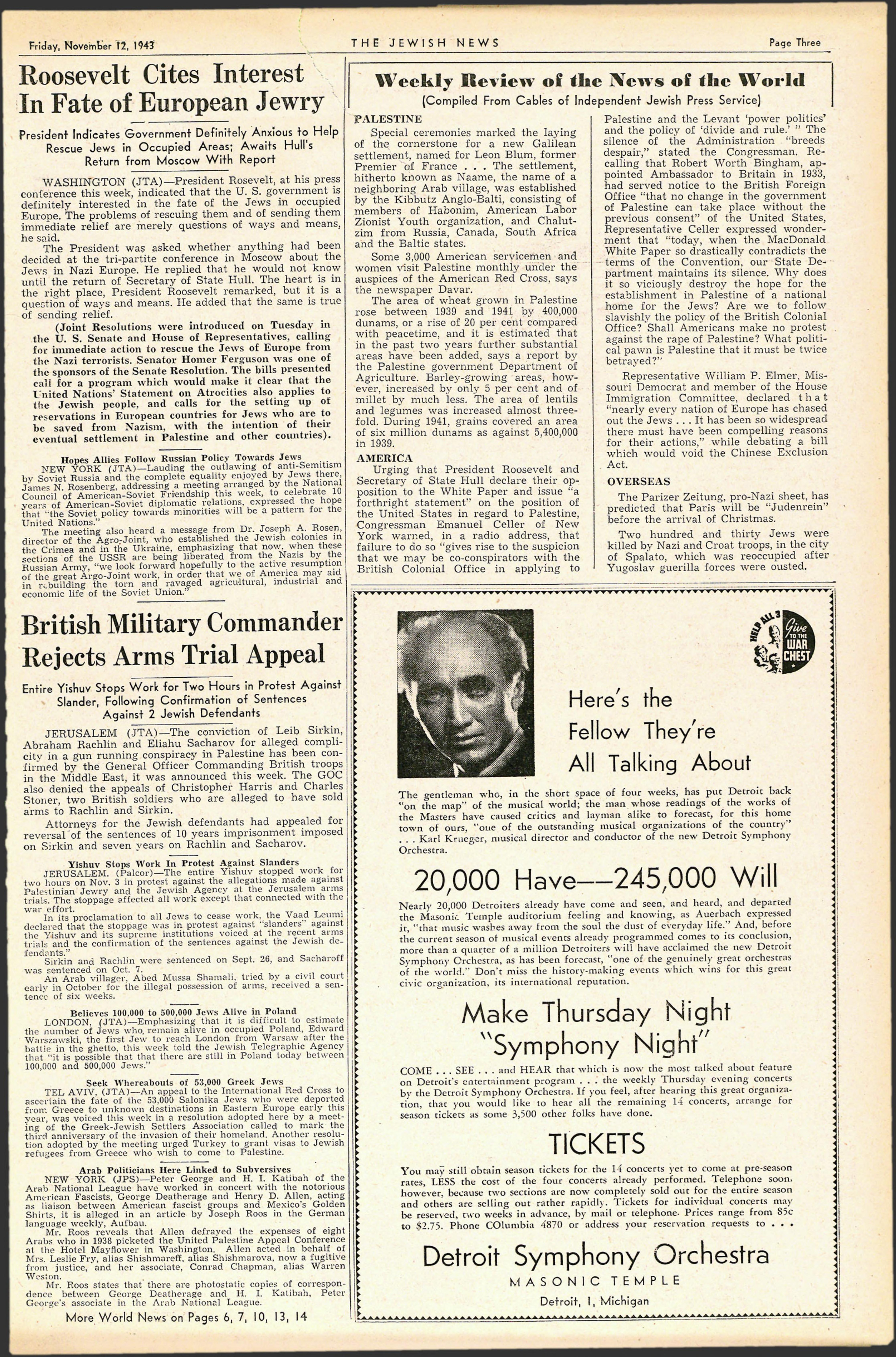 The Detroit Jewish News Digital Archives - November 12, 1943 - Image 3