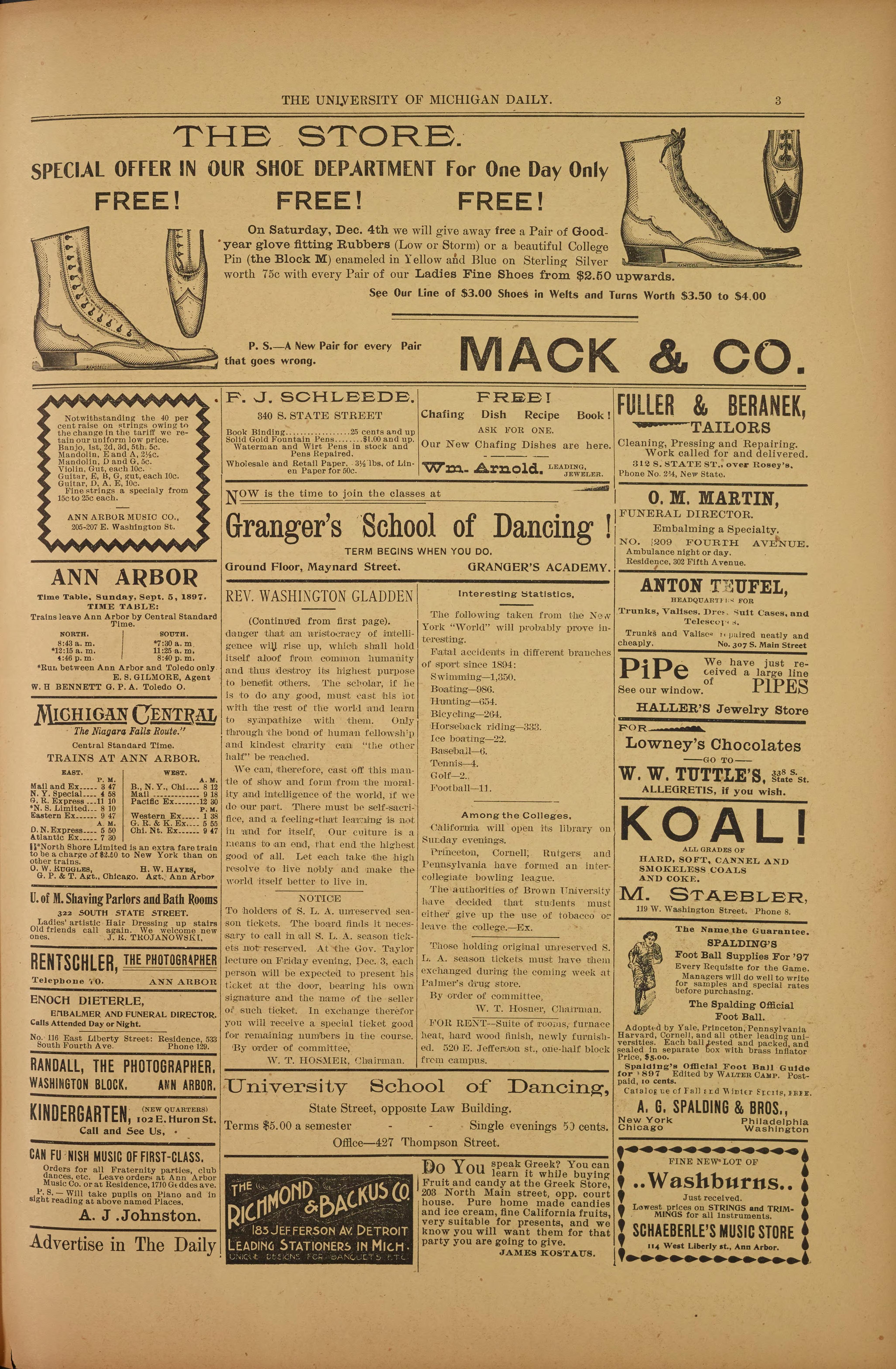 Michigan Daily Digital Archives - December 04, 1897 (vol  8