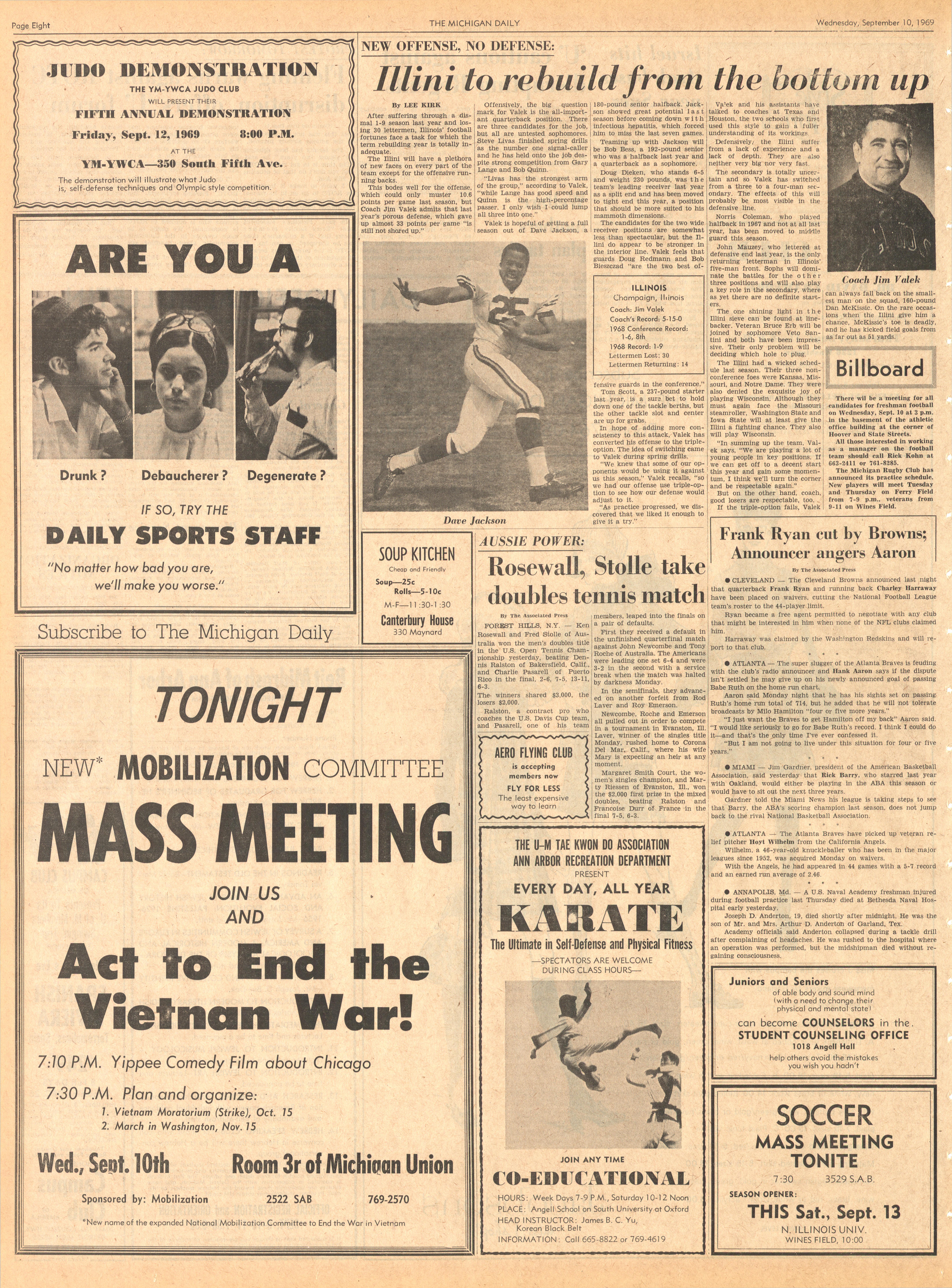 Michigan Daily Digital Archives - September 10, 1969 (vol
