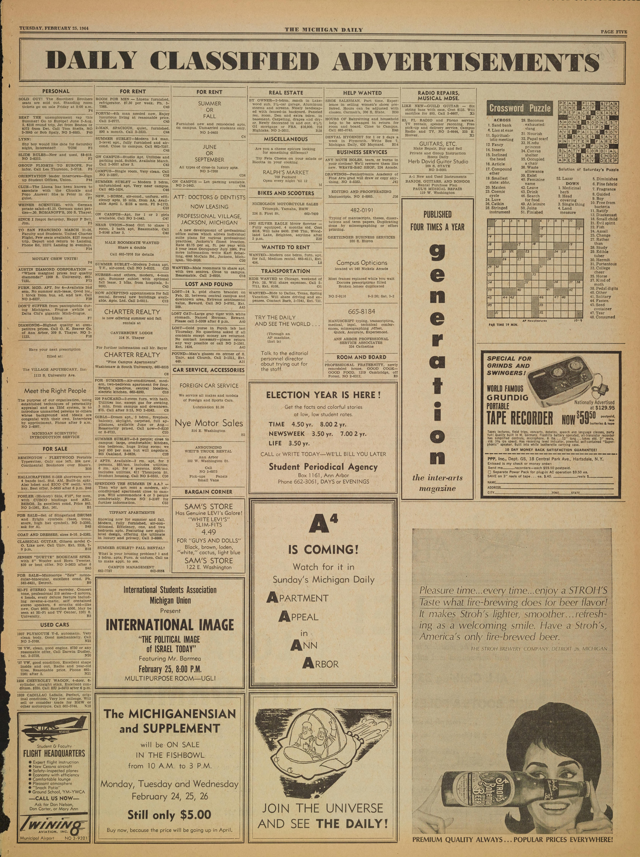 Michigan Daily Digital Archives - February 25 cc0e629099cd