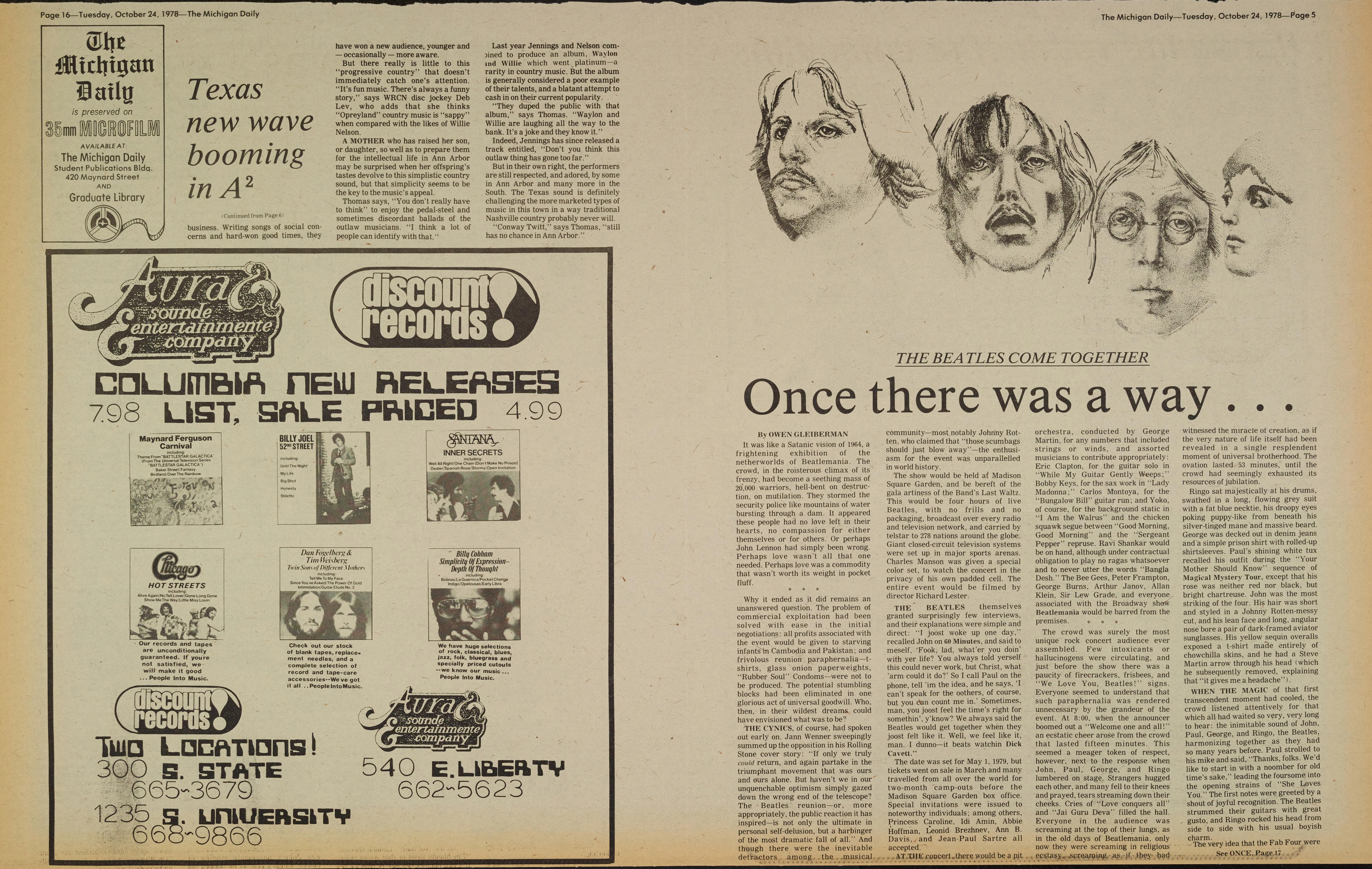 Michigan Daily Digital Archives - October 24, 1978 (vol  59