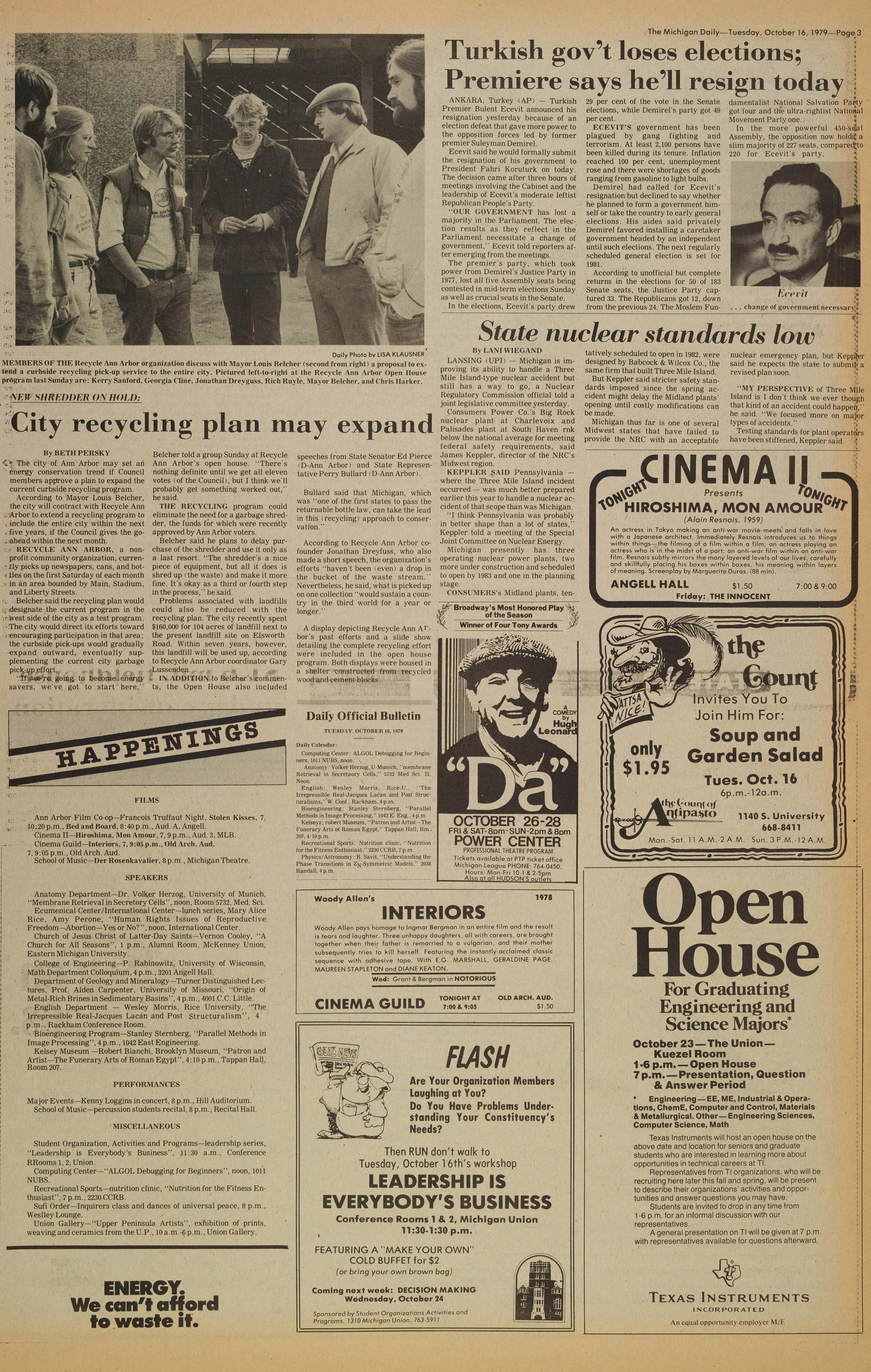 Michigan Daily Digital Archives - October 16, 1979 (vol  90