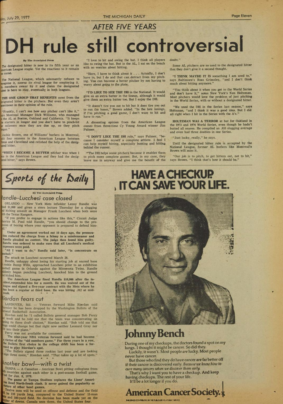 Michigan Daily Digital Archives - July 29, 1977 (vol  87