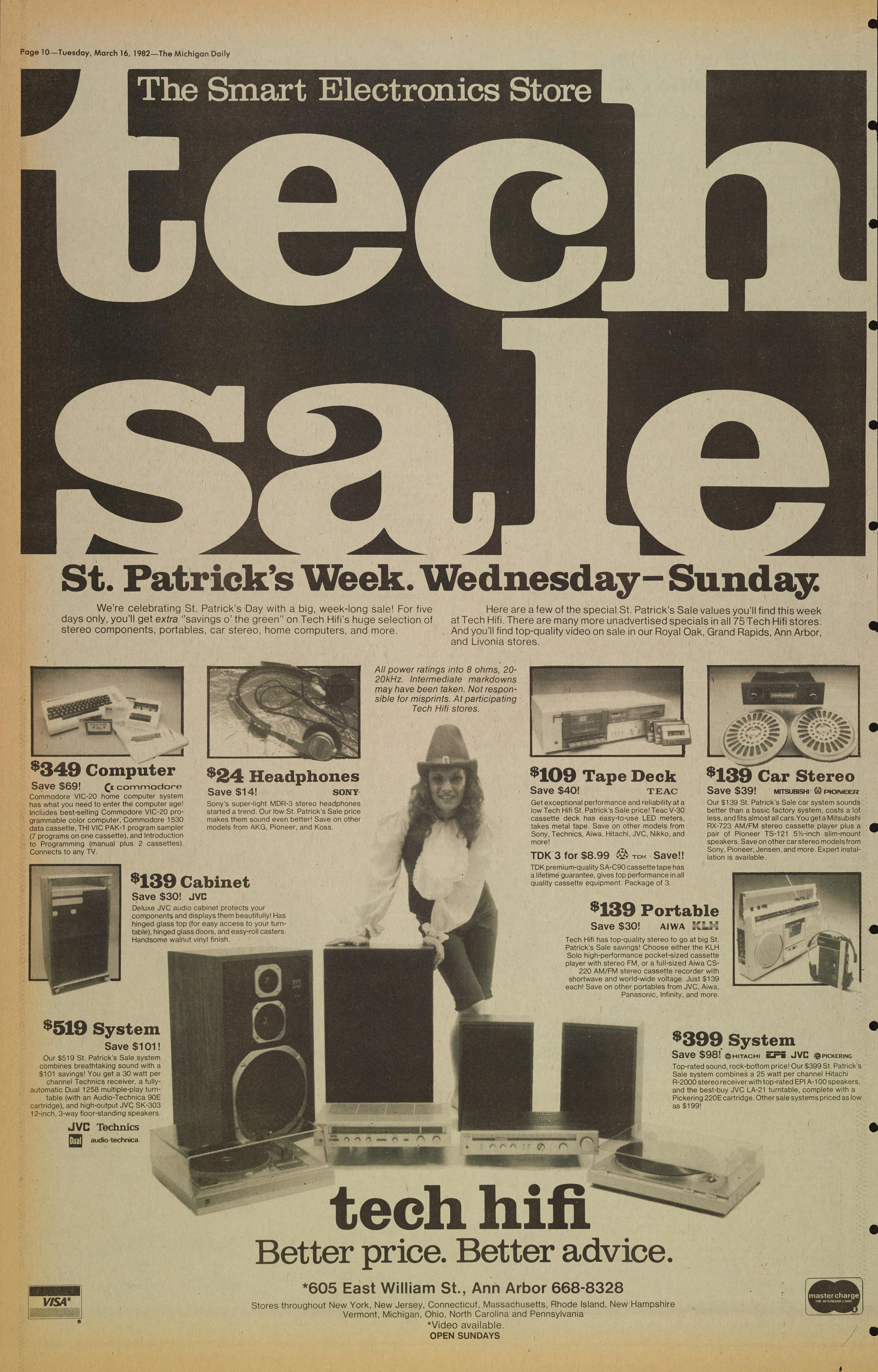 Michigan Daily Digital Archives - March 16, 1982 (vol  92