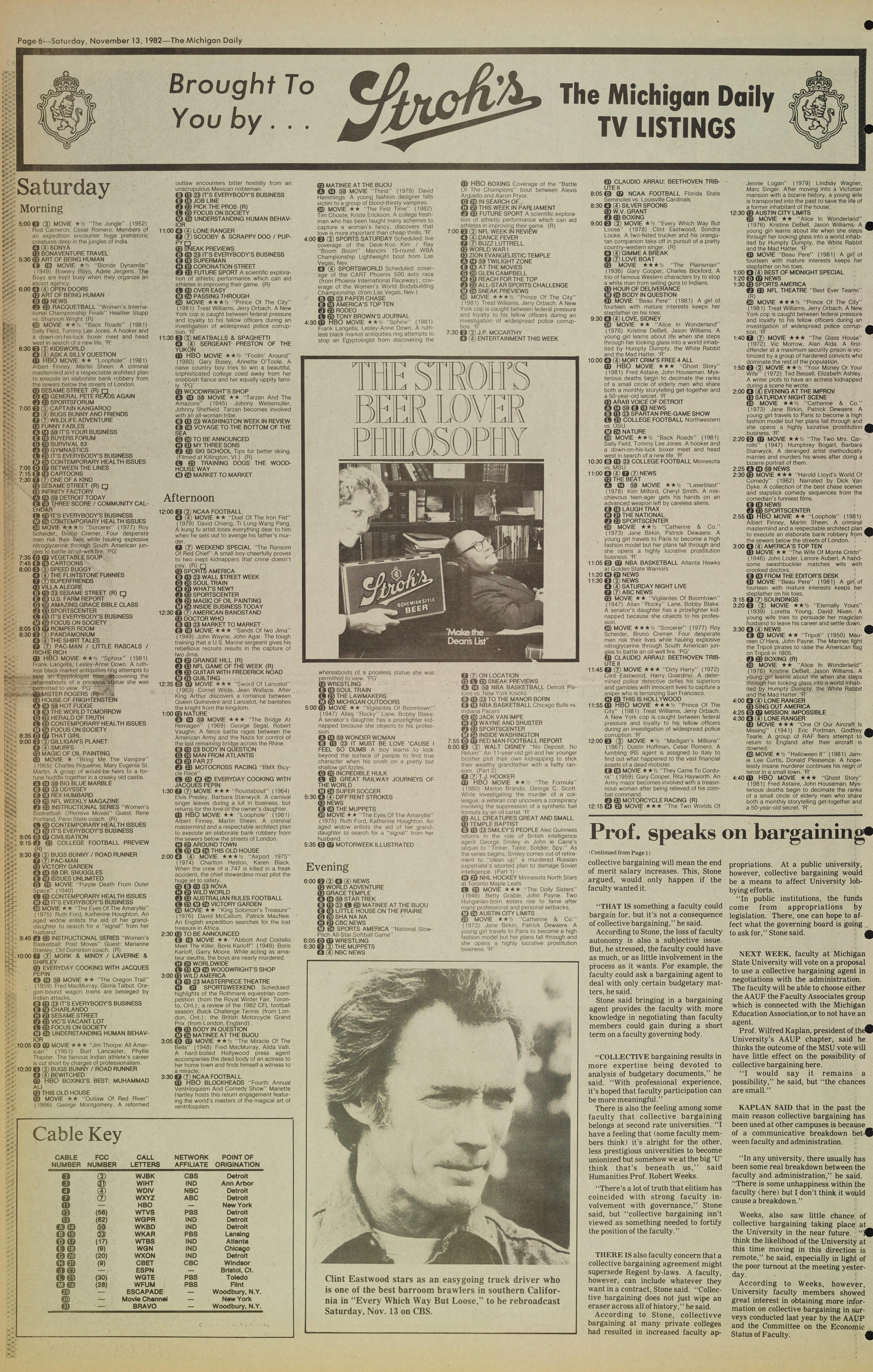 Michigan Daily Digital Archives - November 13, 1982 (vol  93