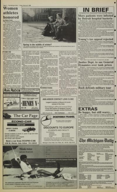 Michigan Daily Digital Archives - February 09, 1990 (vol