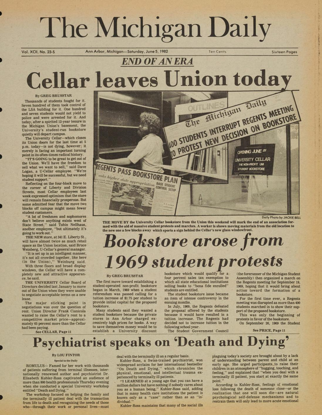 Michigan Daily Digital Archives June 05 1982 Vol 92 Iss 23
