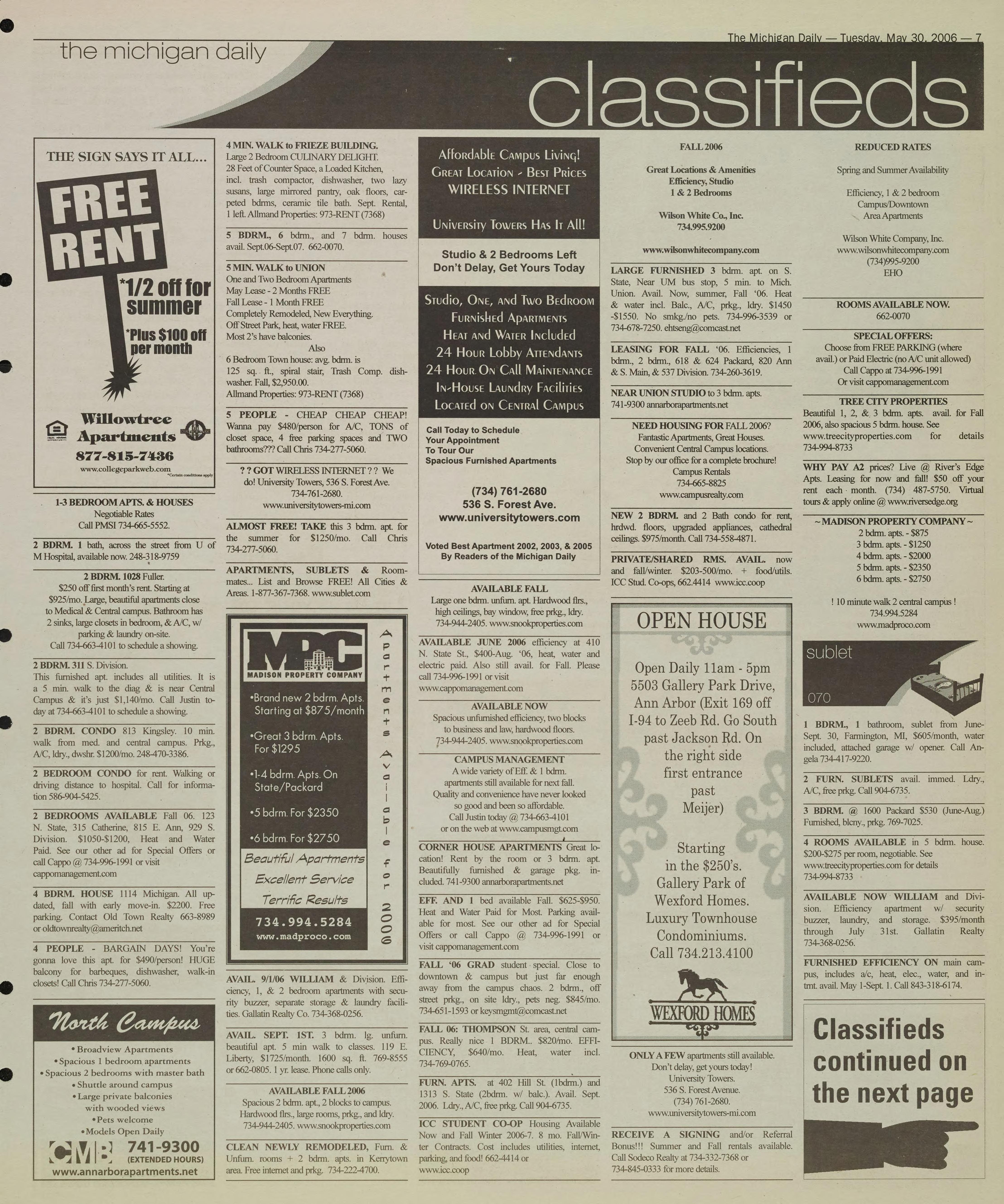 Michigan Daily Digital Archives - May 30, 2006 (vol  116