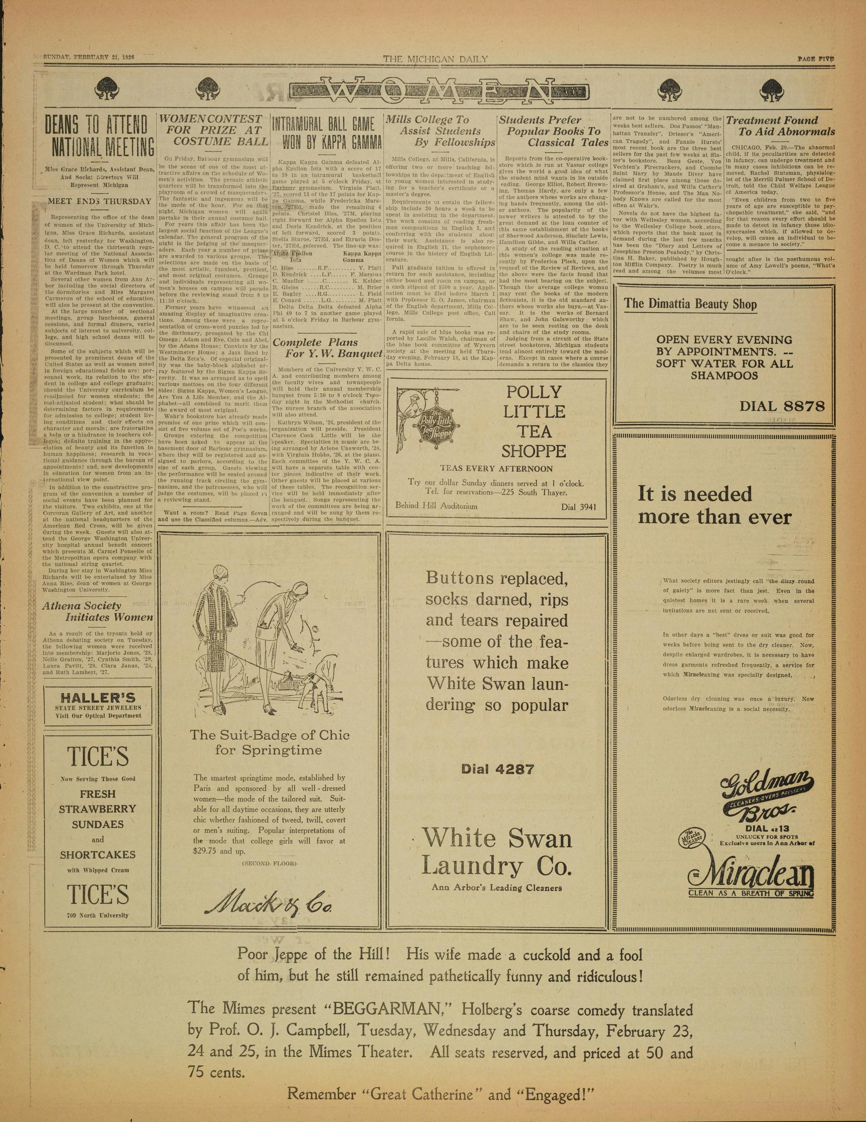 Michigan Daily Digital Archives January 21 1926 vol 36 iss
