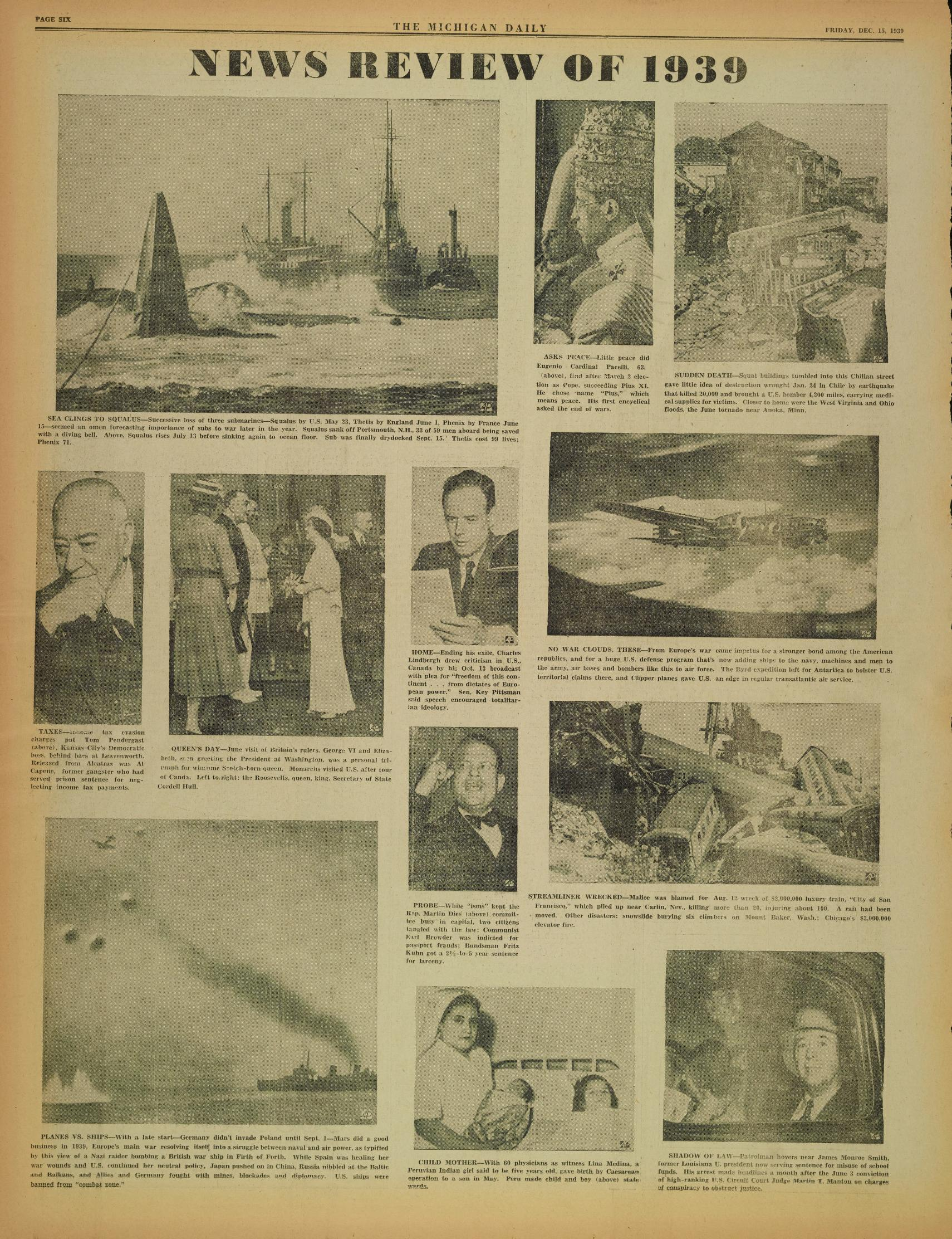 Michigan Daily Digital Archives - December 15, 1939 (vol  50, iss