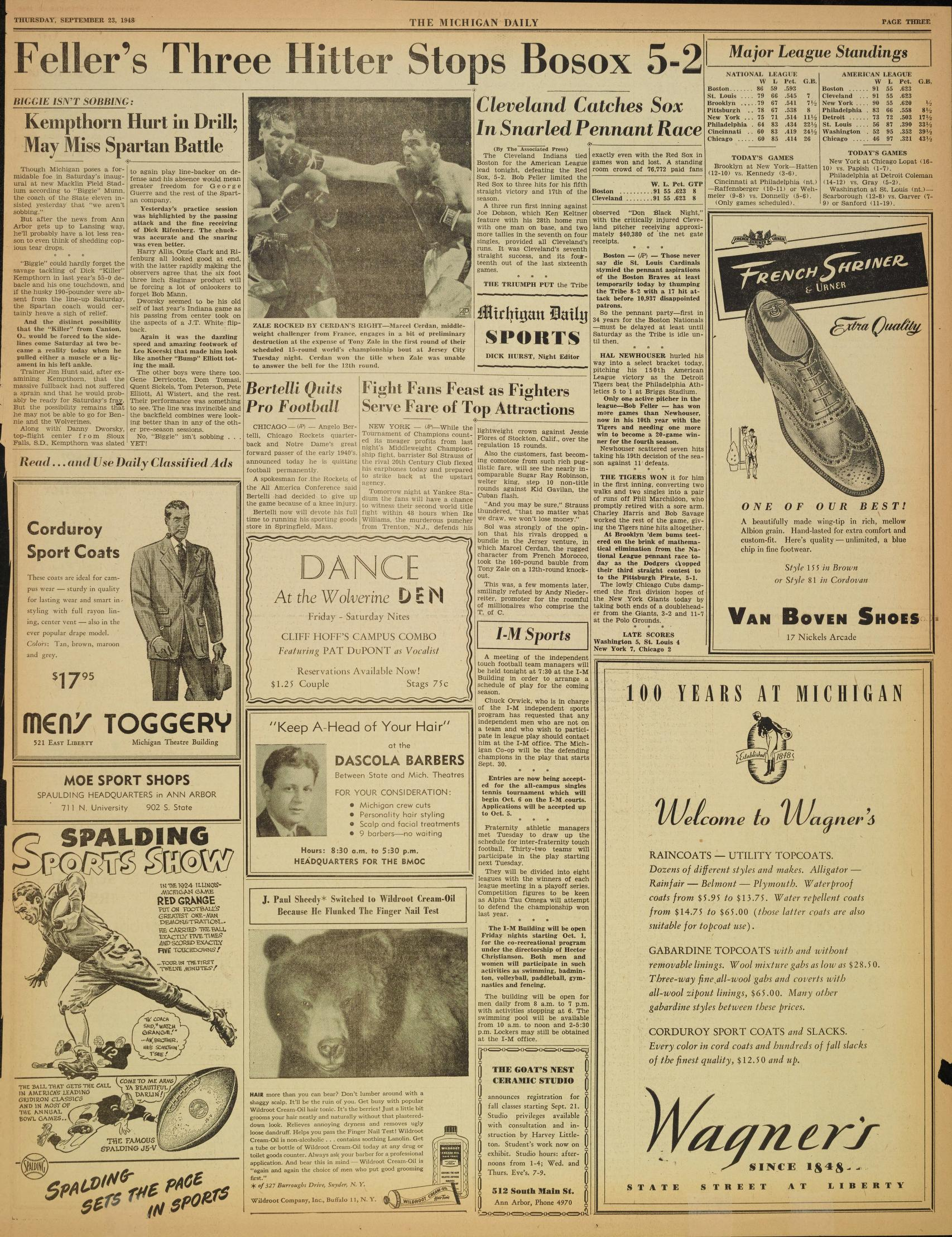 Michigan Daily Digital Archives - September 23, 1948 (vol  59, iss