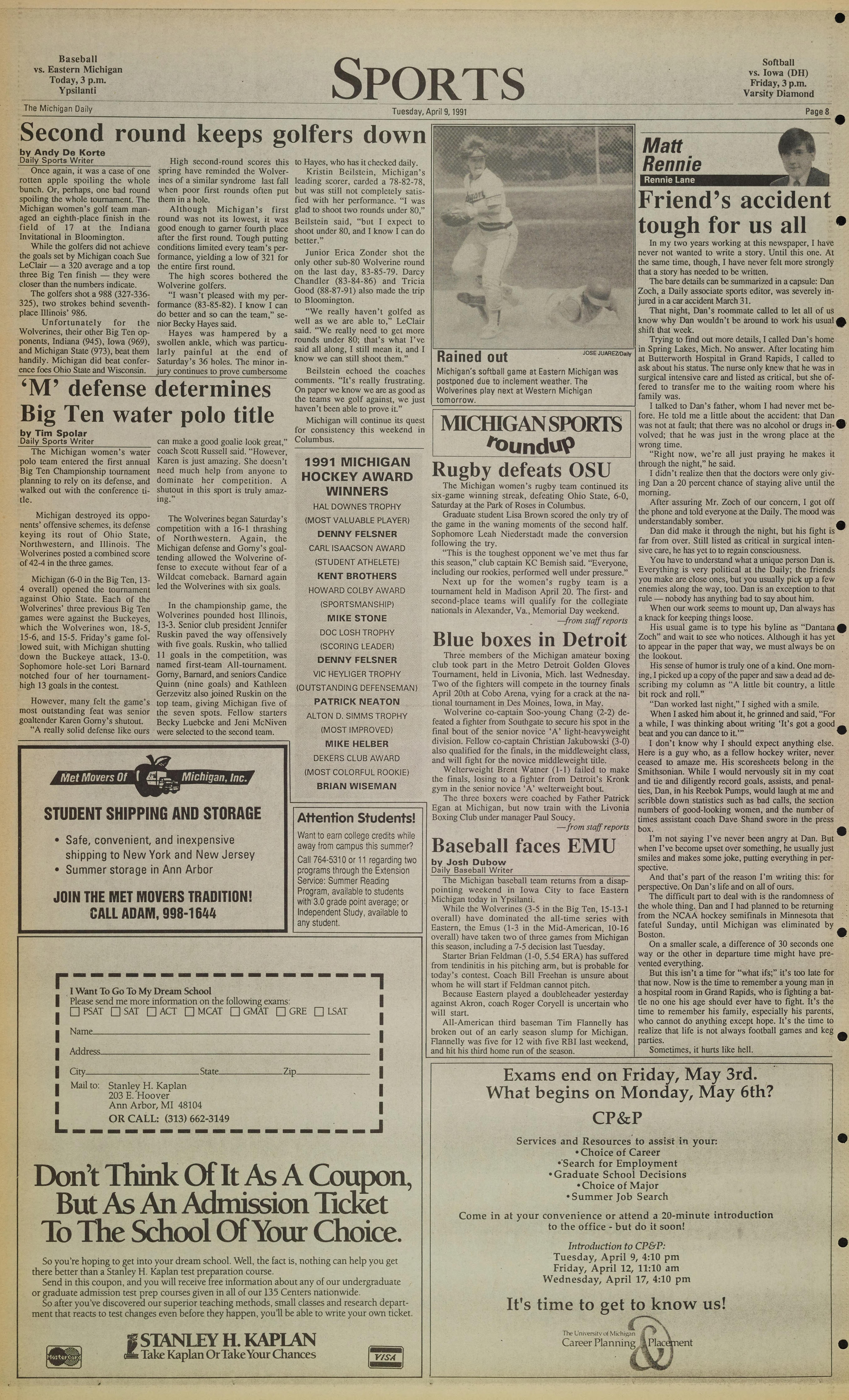 Michigan Daily Digital Archives - April 09, 1991 (vol  101