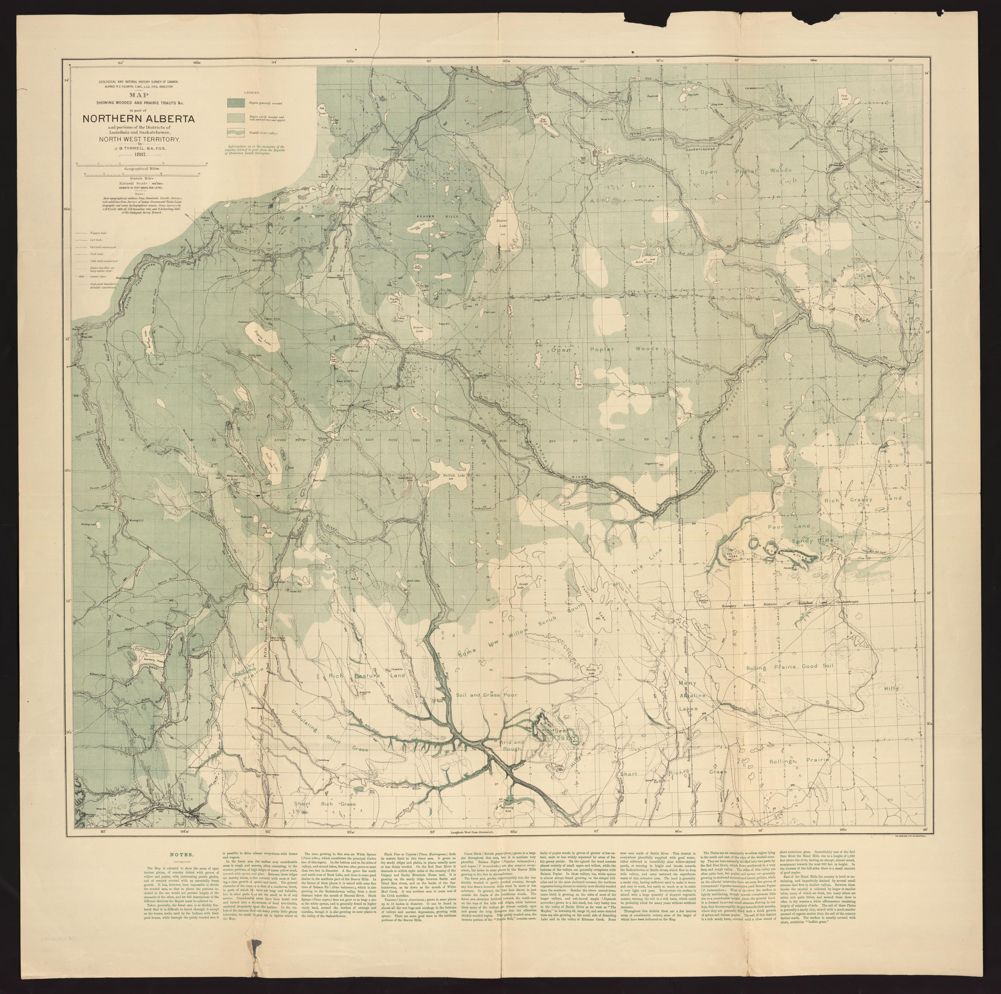 UM Clark Library Maps: Map showing wooded and prairie tracts