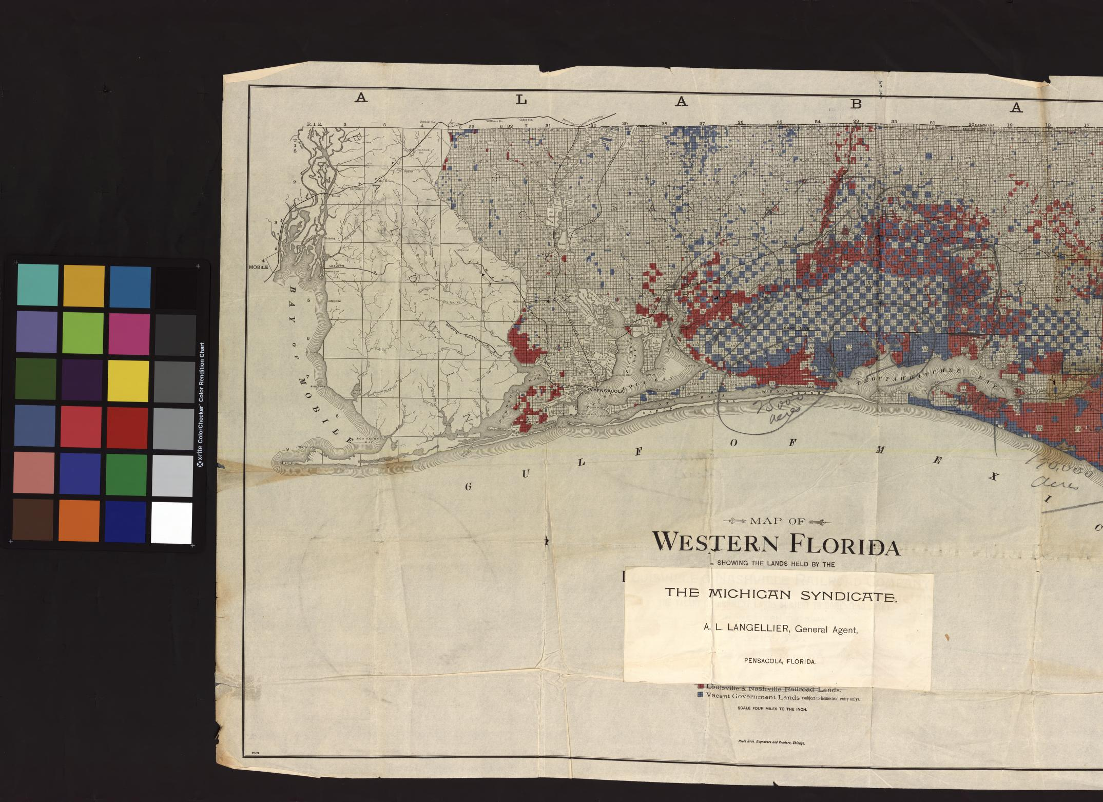 UM Clark Library Maps: Map of Western Florida showing the lands held ...