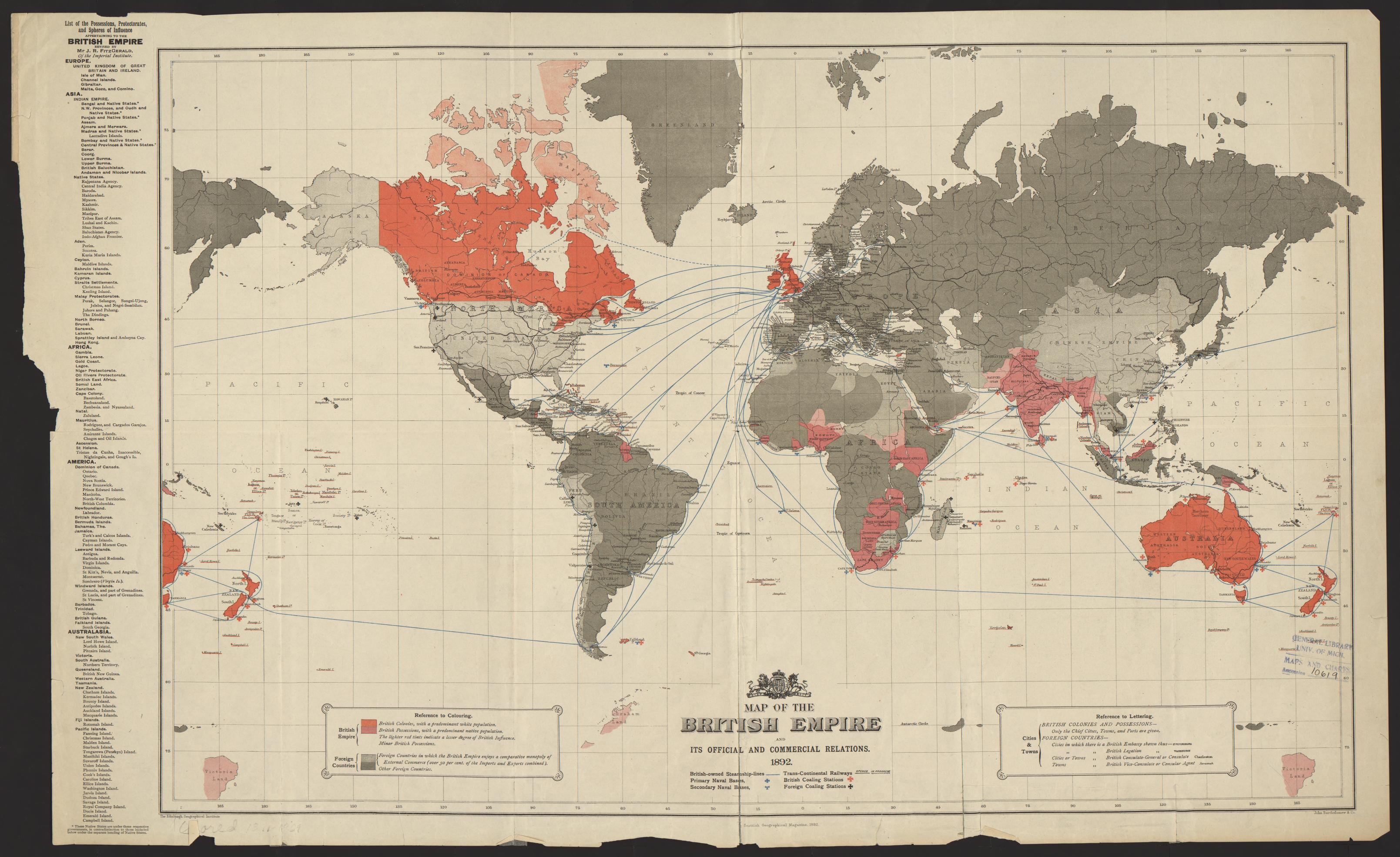 Um clark library maps map of the british empire and its official map of the british empire and its official and commercial relations gumiabroncs Choice Image