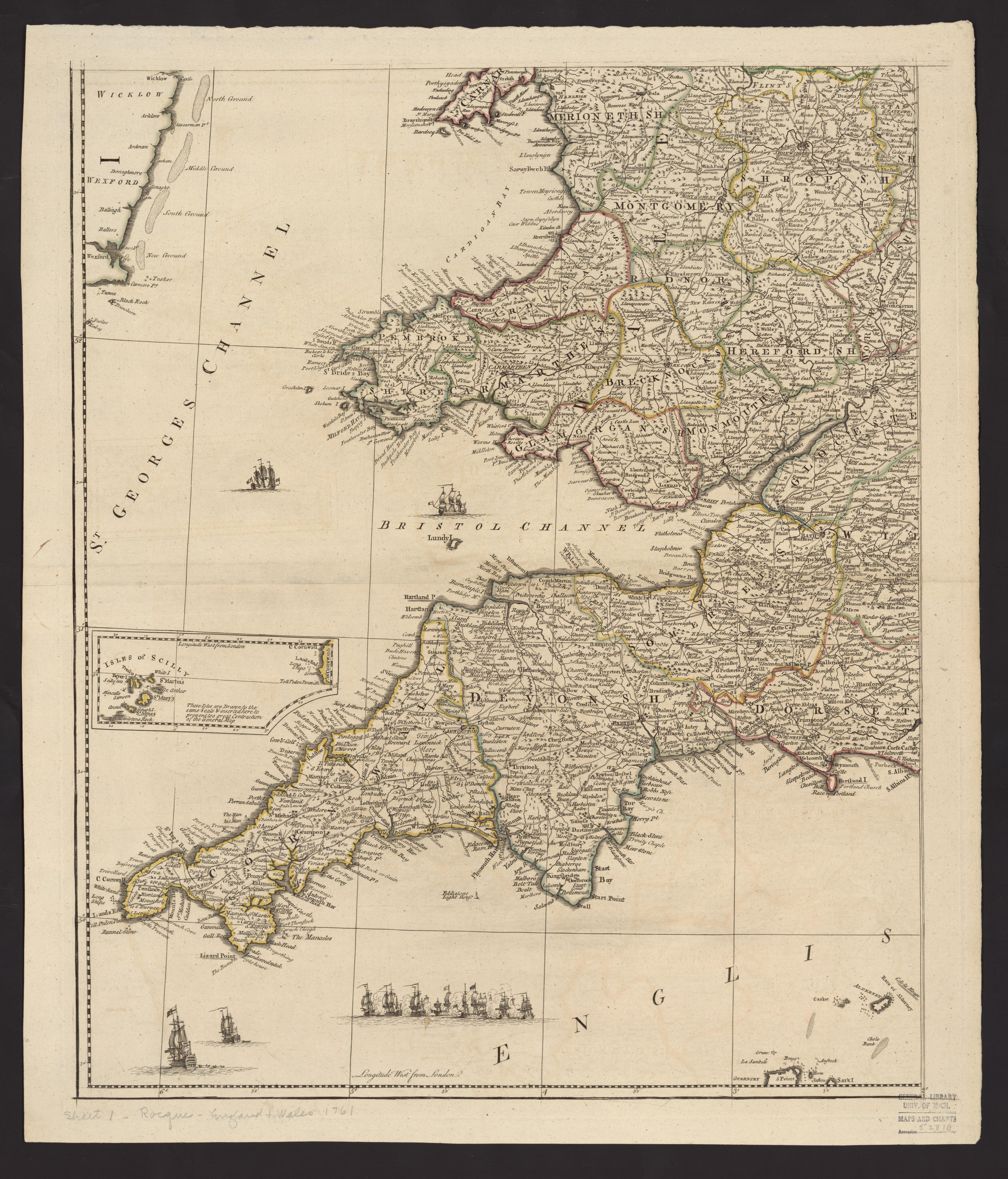 Map Of England With Towns Cities And Villages.Um Clark Library Maps England And Wales Drawn From The Most
