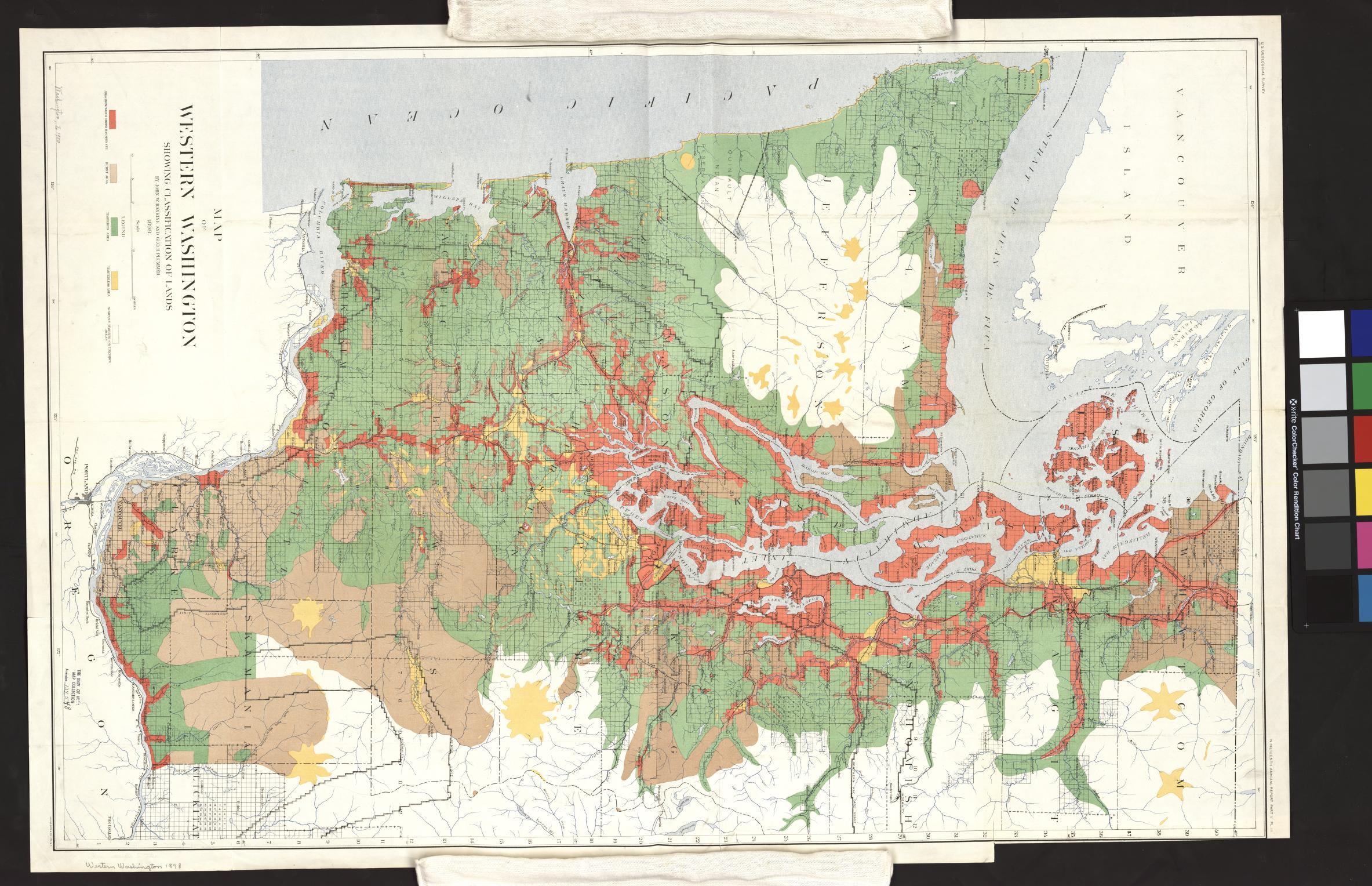 UM Clark Library Maps: Map of western Washington, showing ...