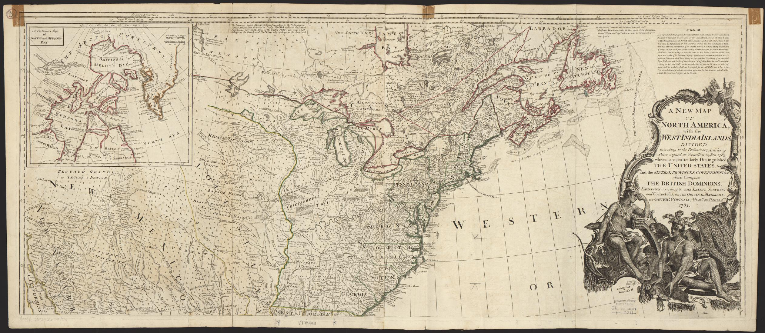 UM Clark Library Maps A New Map Of North America With The West - Map of united provinces india