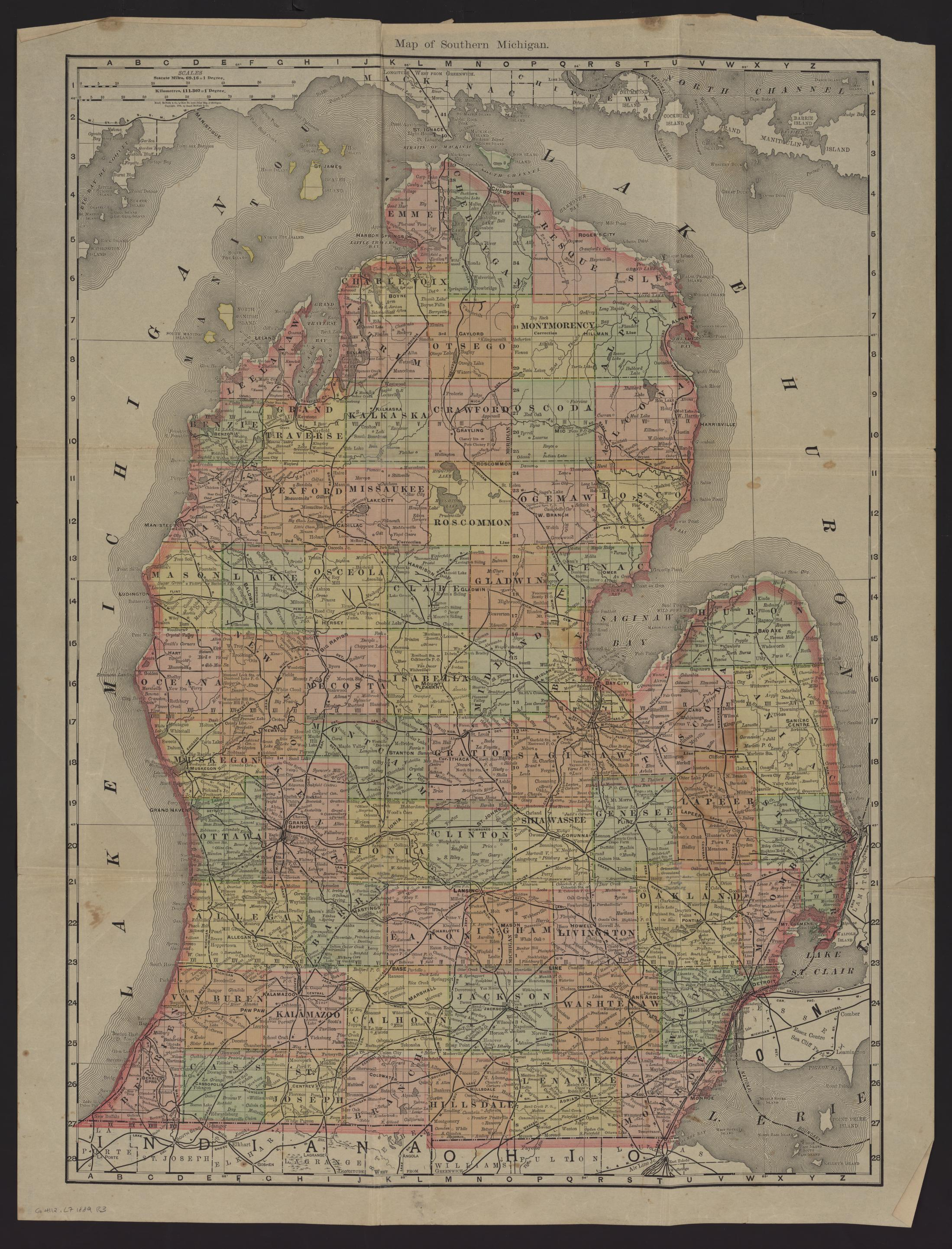 Um clark library maps map of southern michigan map of southern michigan publicscrutiny Image collections