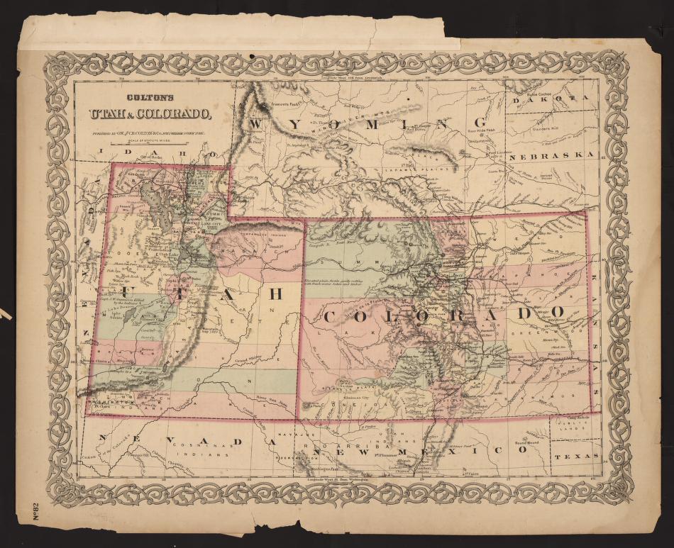 Clark Colorado Map.Um Clark Library Maps Colton S Utah Colorado