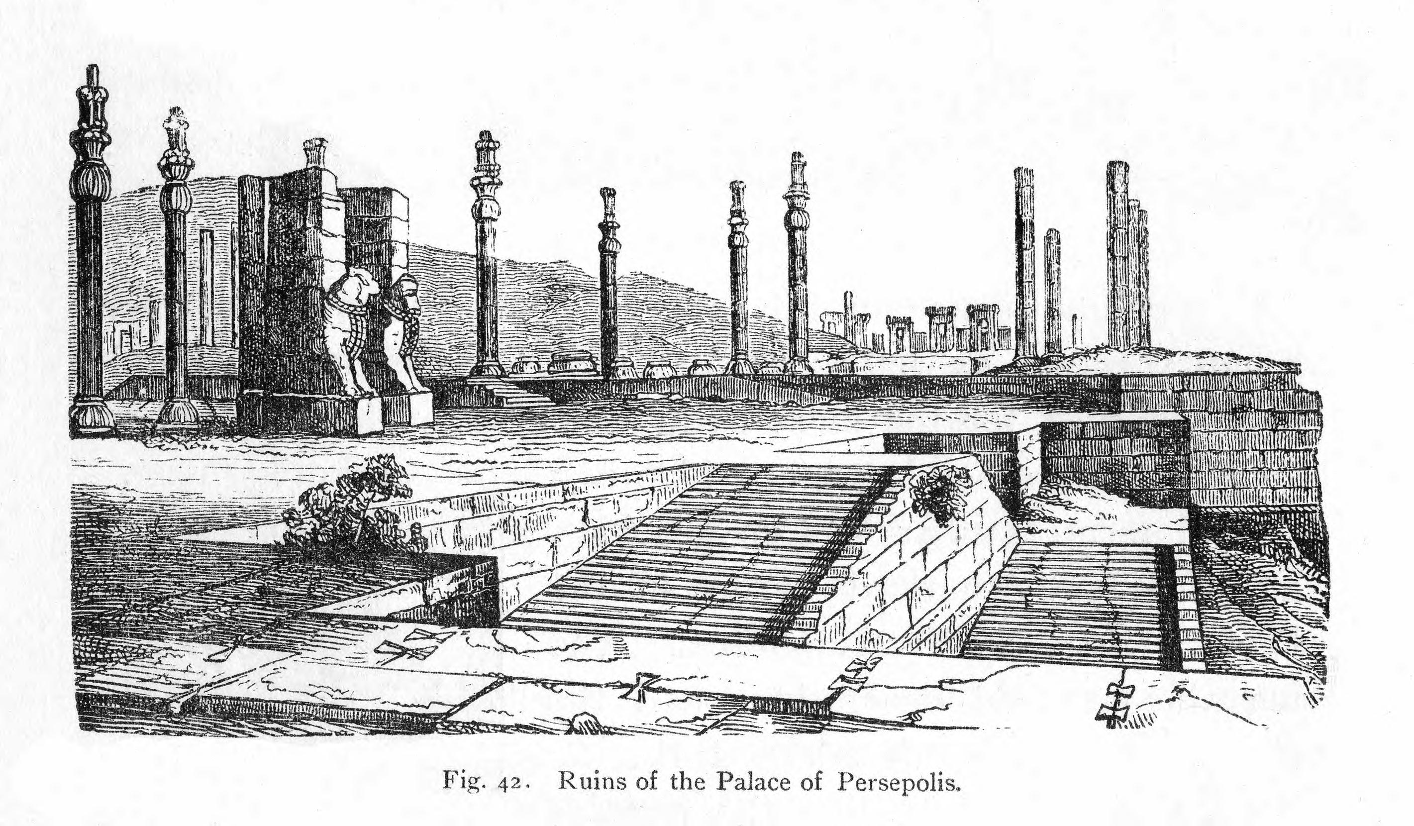 Historic Illustrations Of Art And Architecture Ruins Of The Palace Of Persepolis