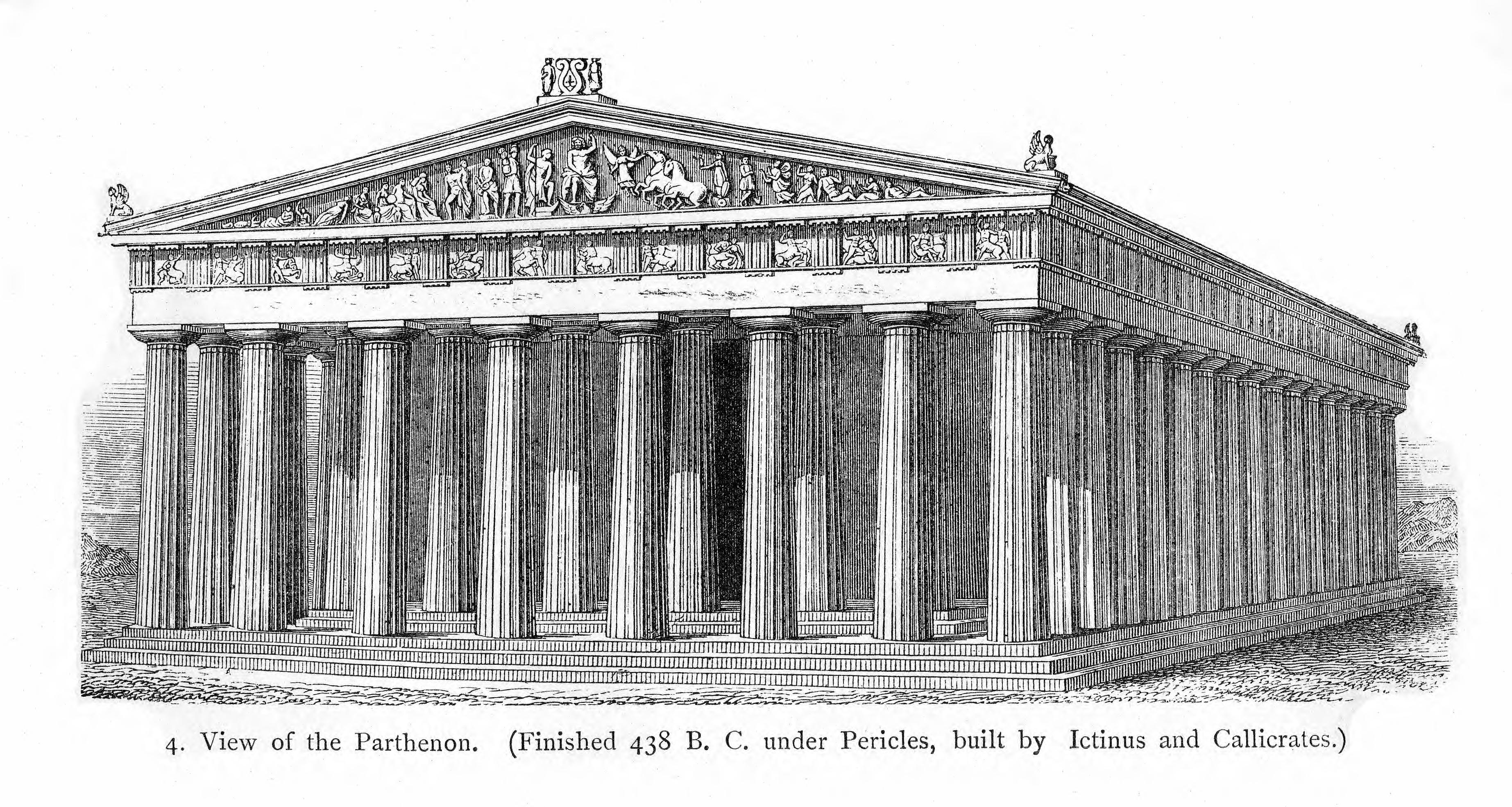 historic illustrations of art and architecture greek architecture