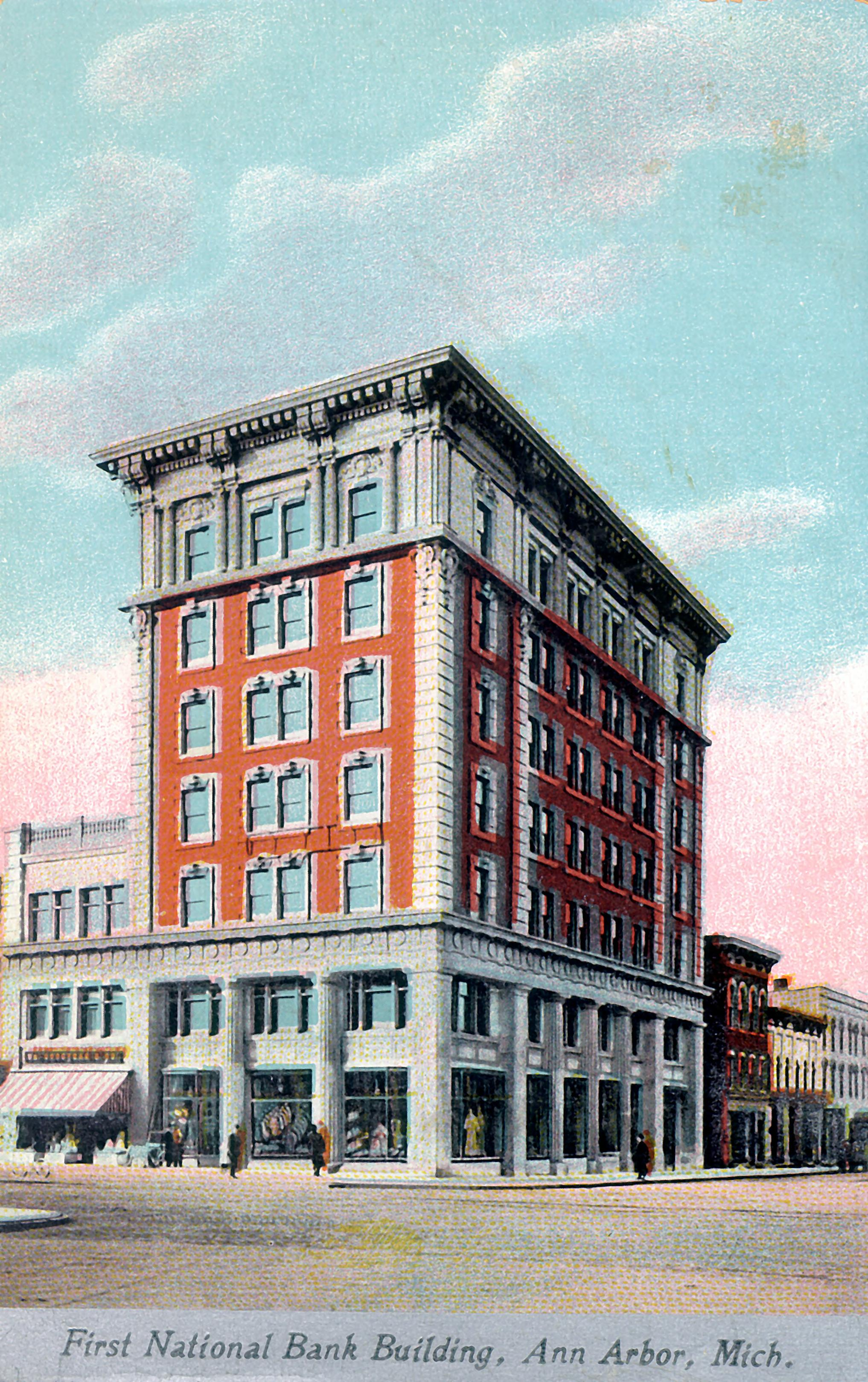 Ann Arbor Postcards: The First National Bank Building