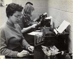 Girls at Typewriters