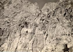 Behistun, Iran - relief sculpture at center bottom (Bb 1)