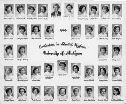 Class of 1965, Dental Hygiene, University of Michigan School of Dentistry